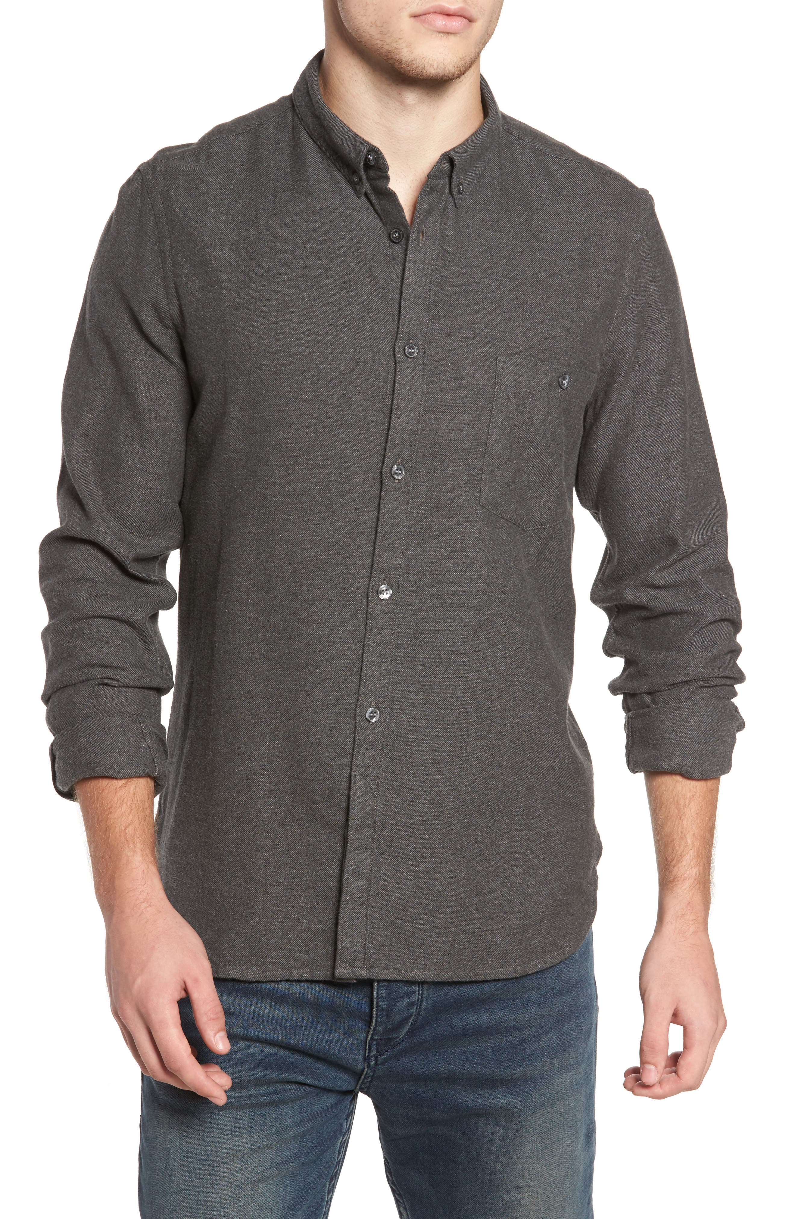 Alternate Image 1 Selected - French Connection Regular Fit Flannel Sport Shirt