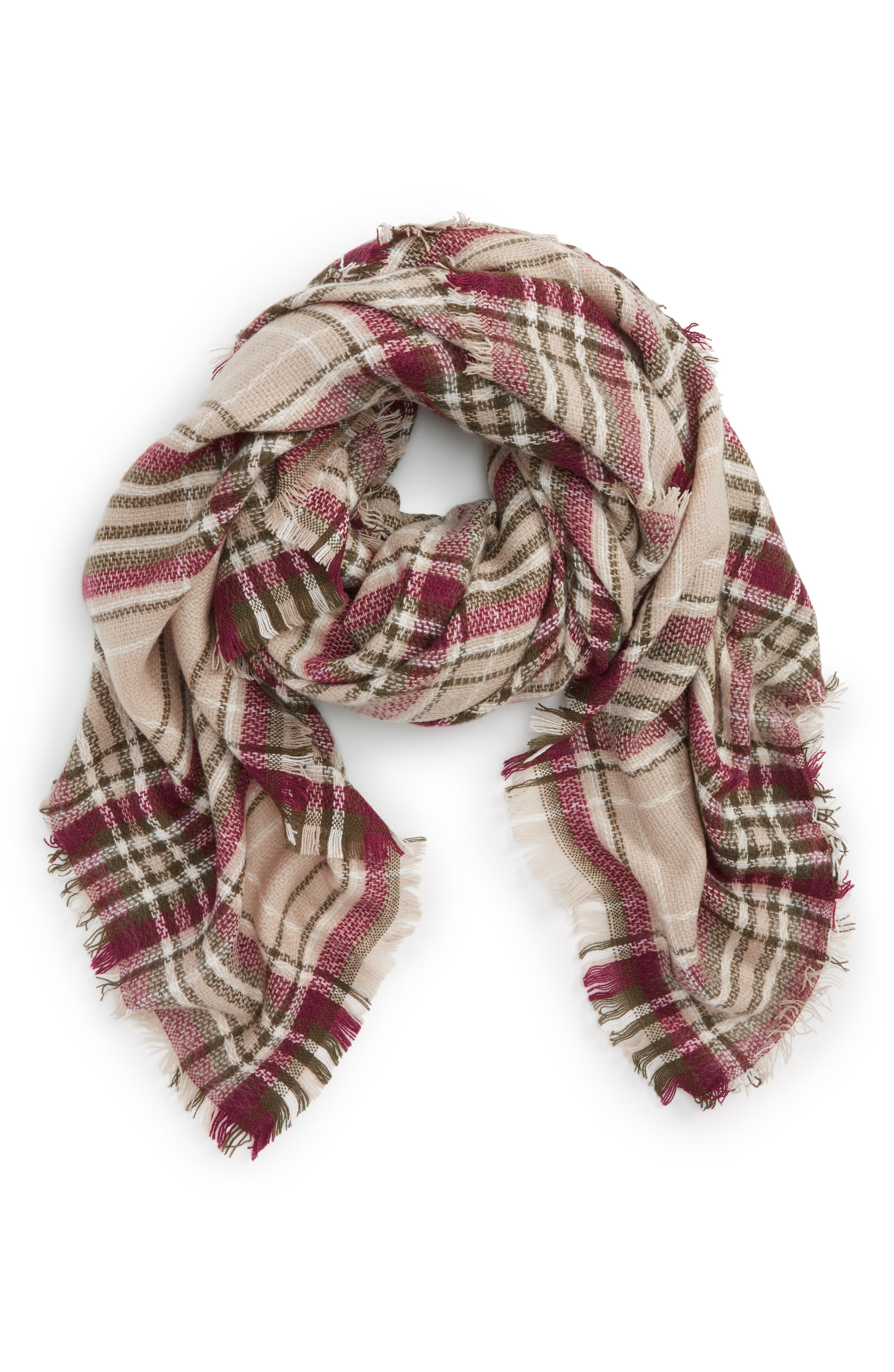 NYC Underground Plaid Square Scarf