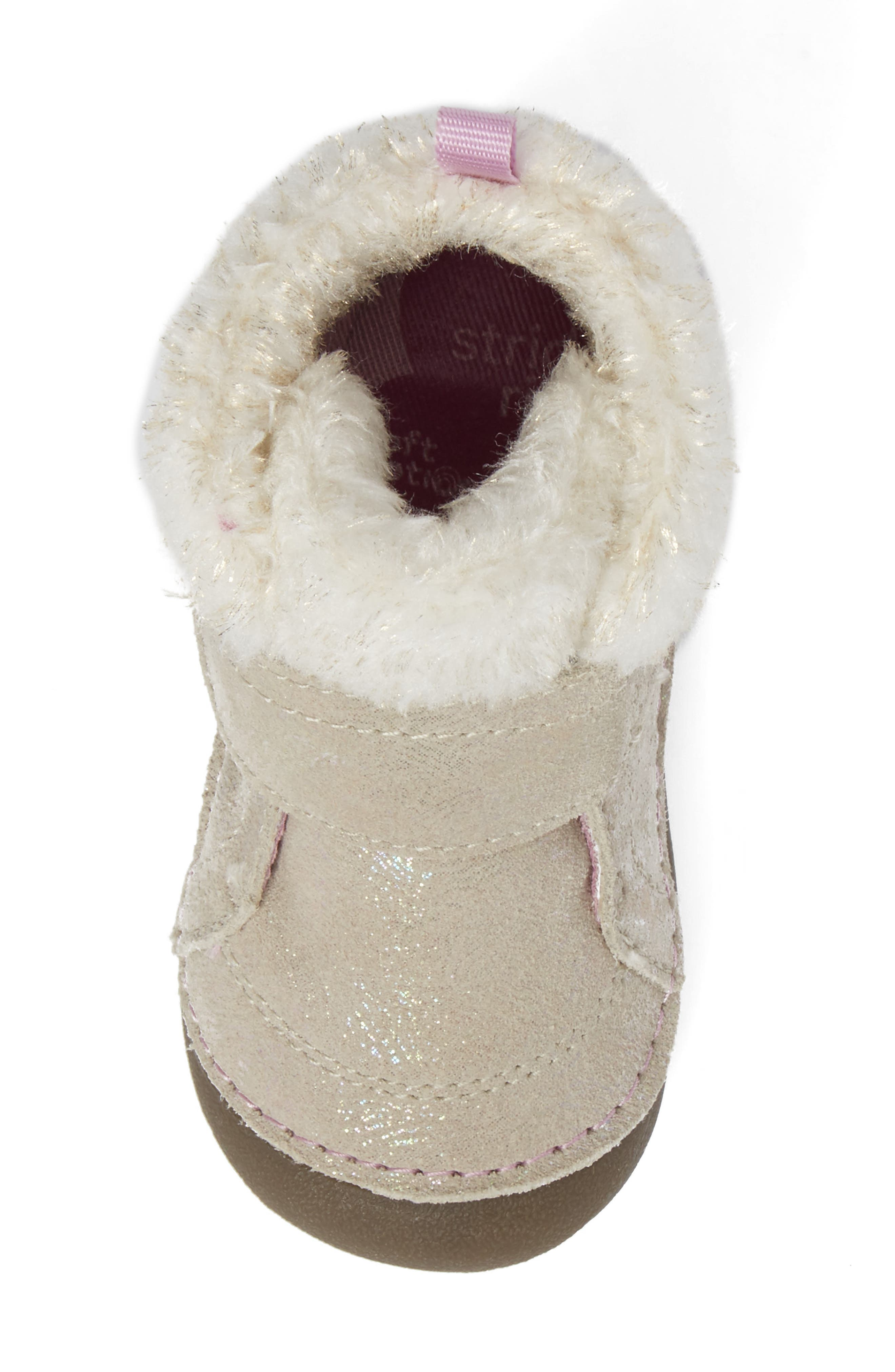 Alternate Image 6  - Stride Rite Soft Motion™ Sophie Faux Fur Bootie (Baby & Walker)