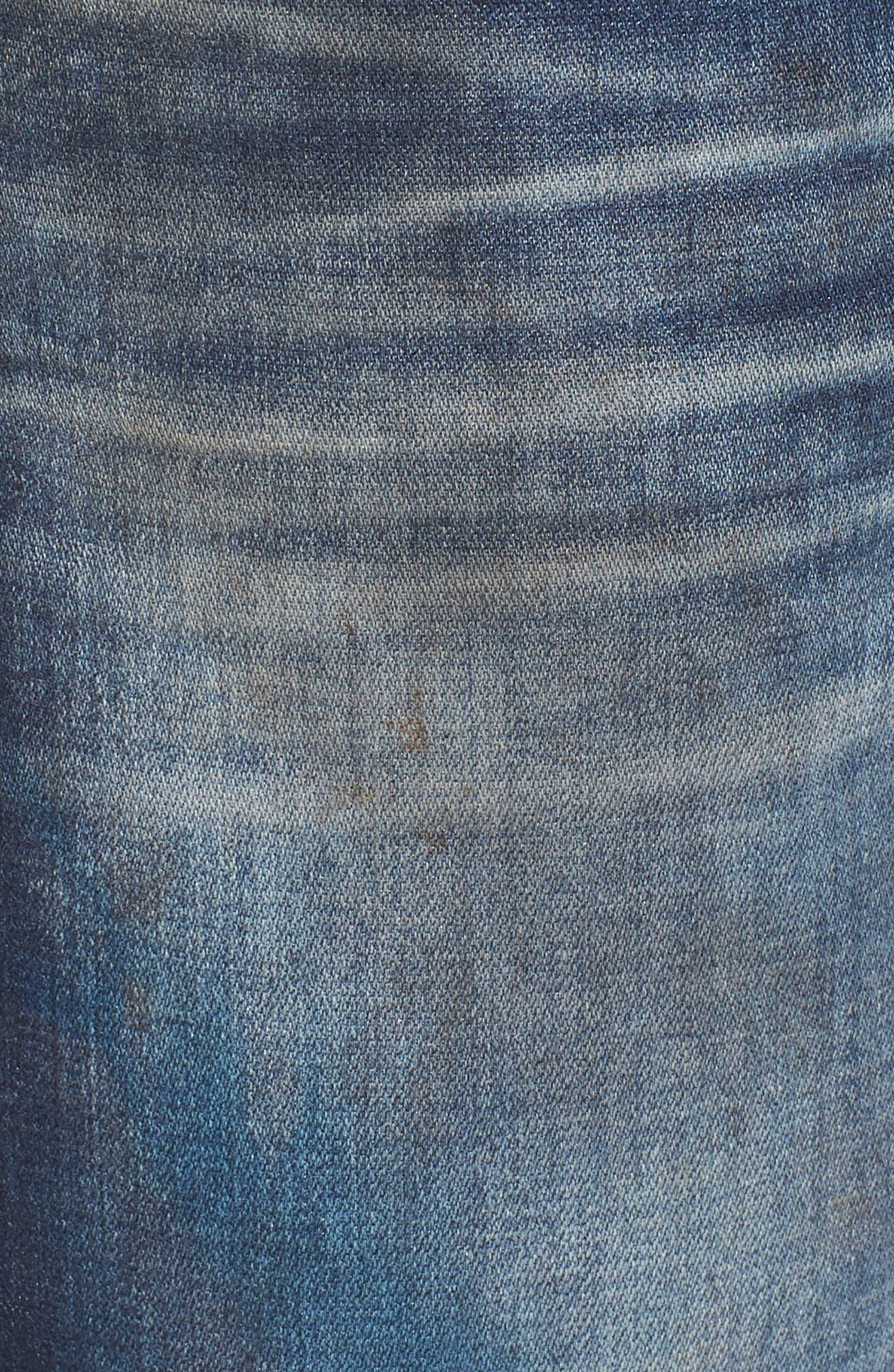 Rocco Skinny Fit Jeans,                             Alternate thumbnail 5, color,                             Loft Edge