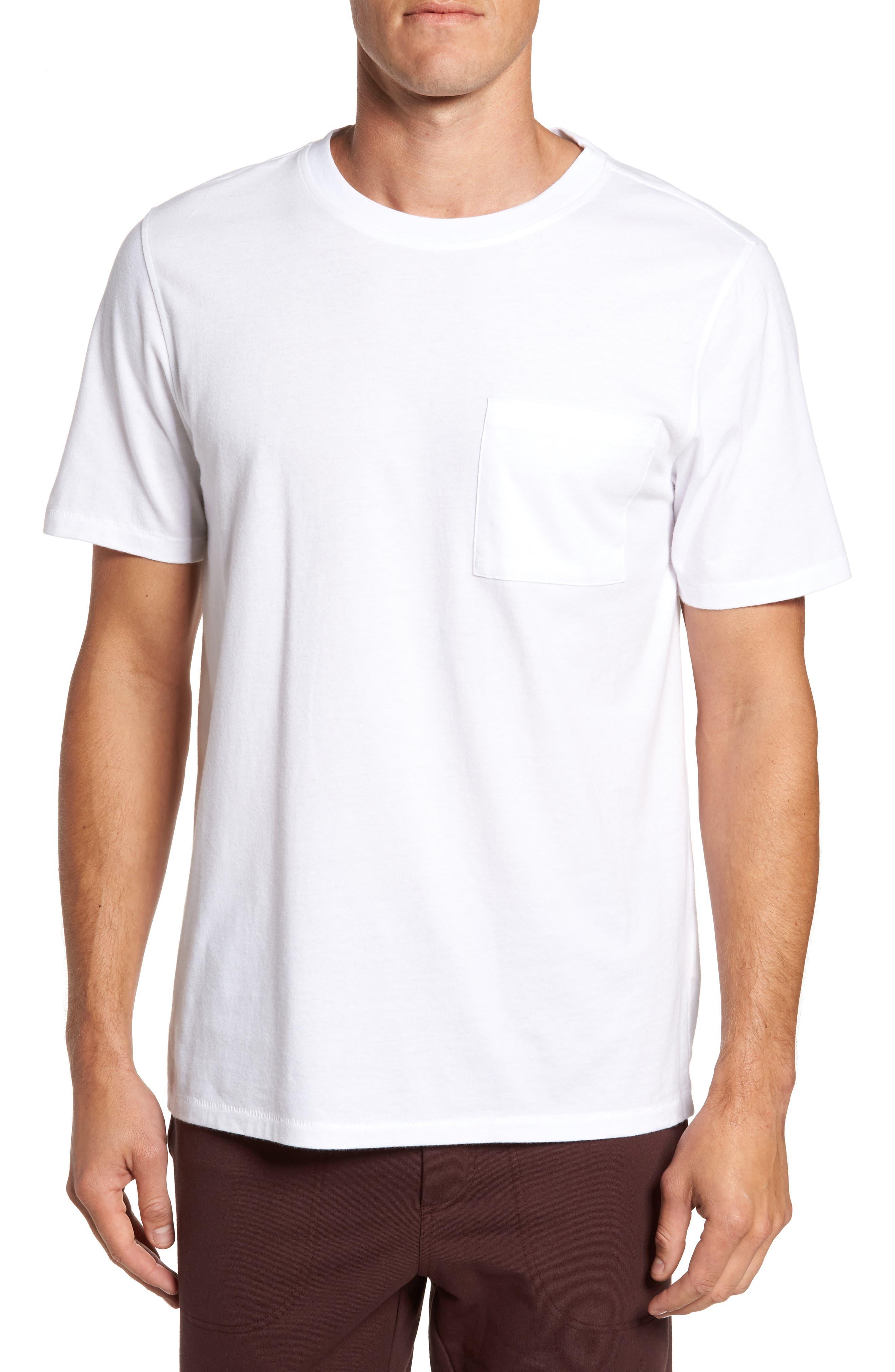 Benjamin Crewneck T-Shirt,                             Main thumbnail 1, color,                             White
