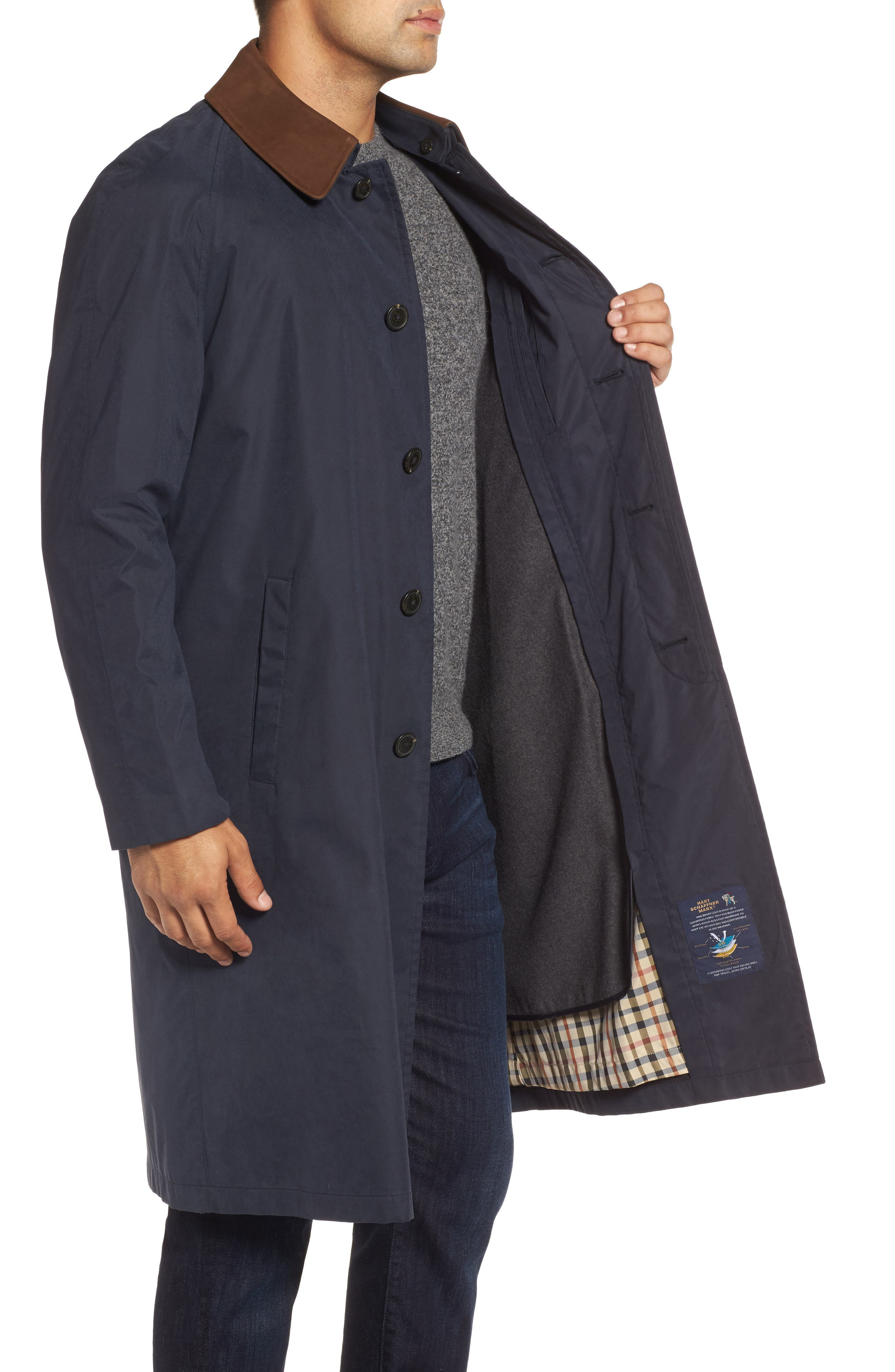 Lawrence Classic Fit Rain Coat,                             Alternate thumbnail 3, color,                             Navy