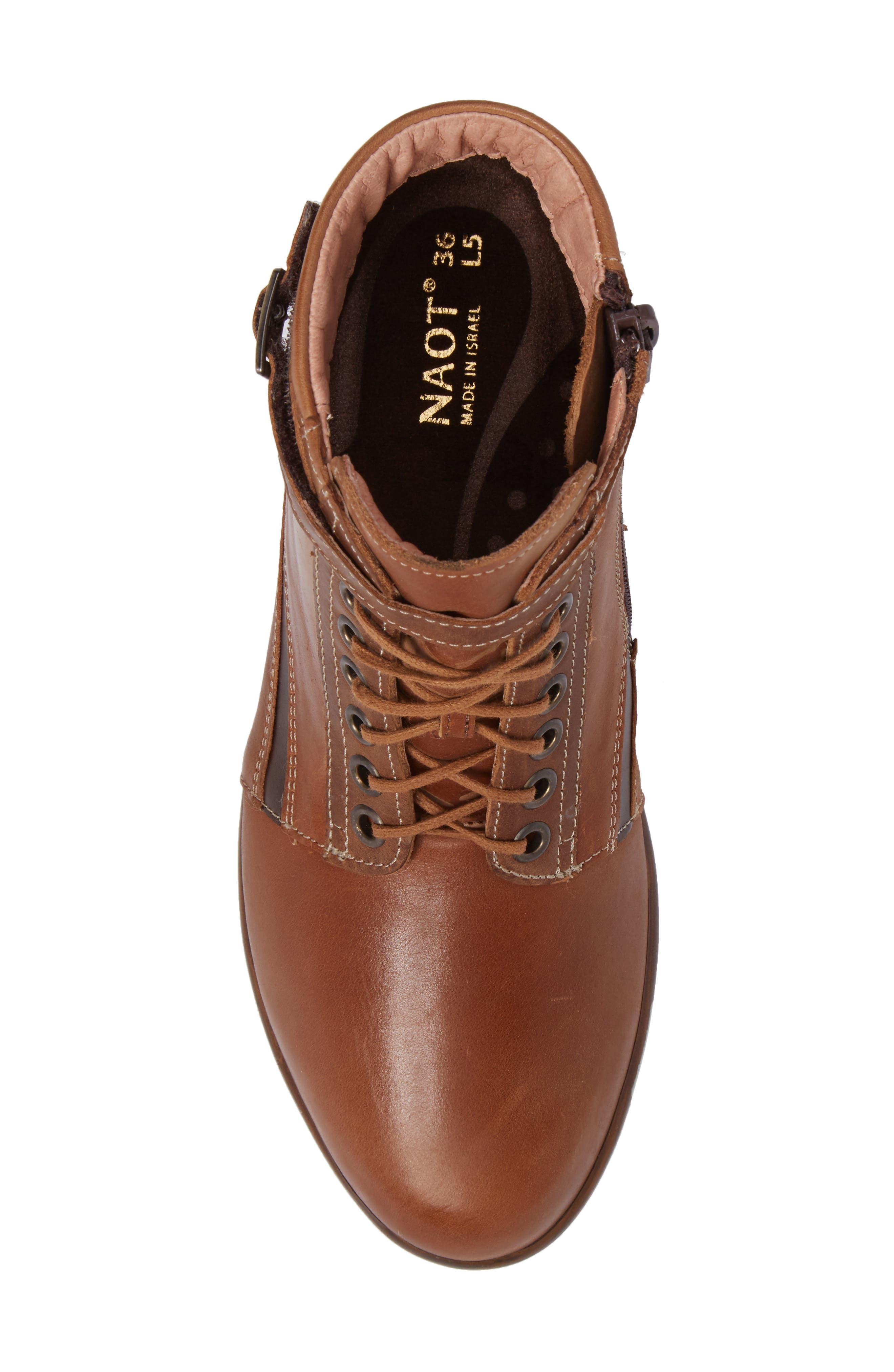 Kona Boot,                             Alternate thumbnail 5, color,                             Vintage Camel Leather