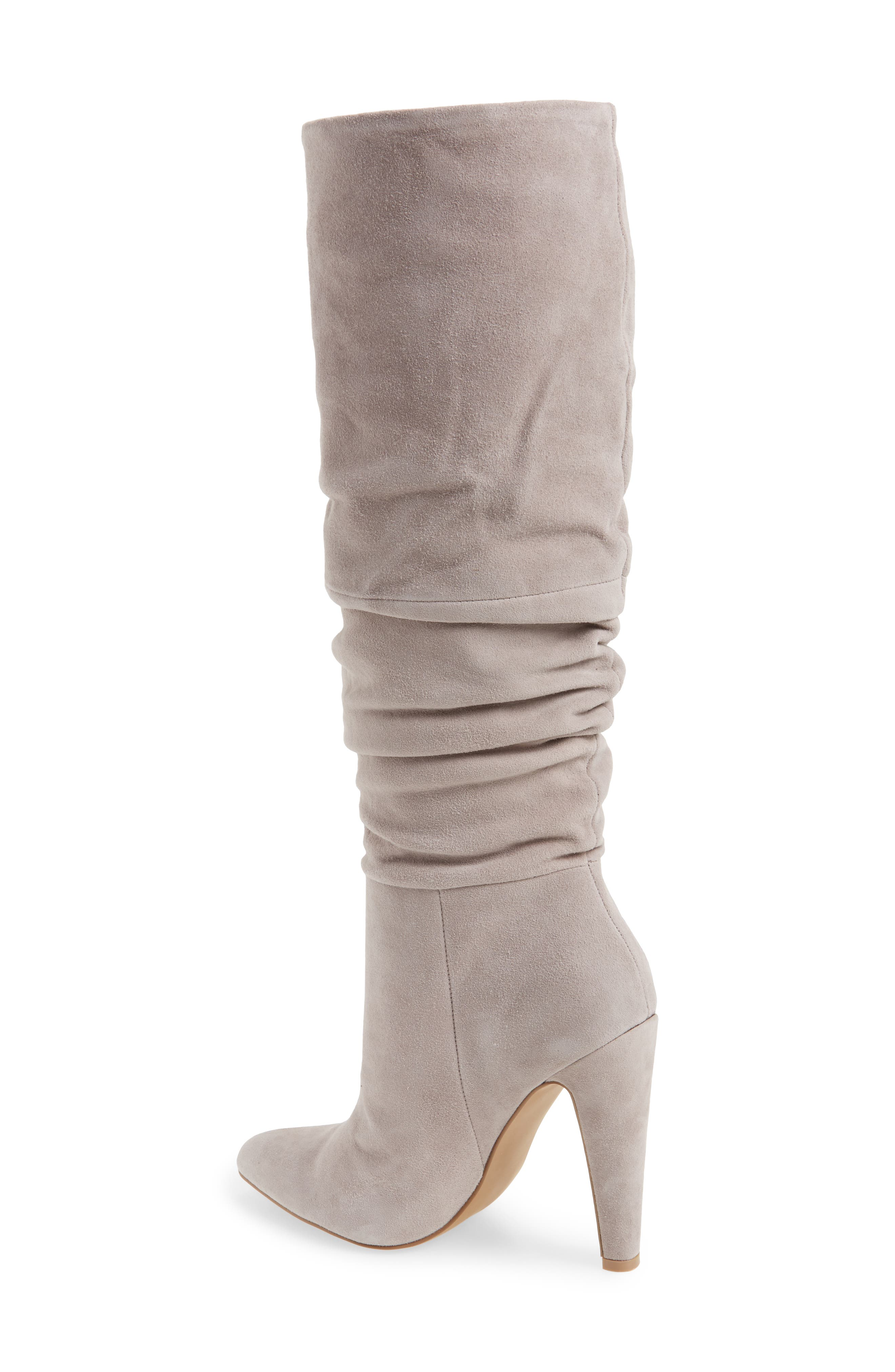 Carrie Slouchy Boot,                             Alternate thumbnail 2, color,                             Grey Suede