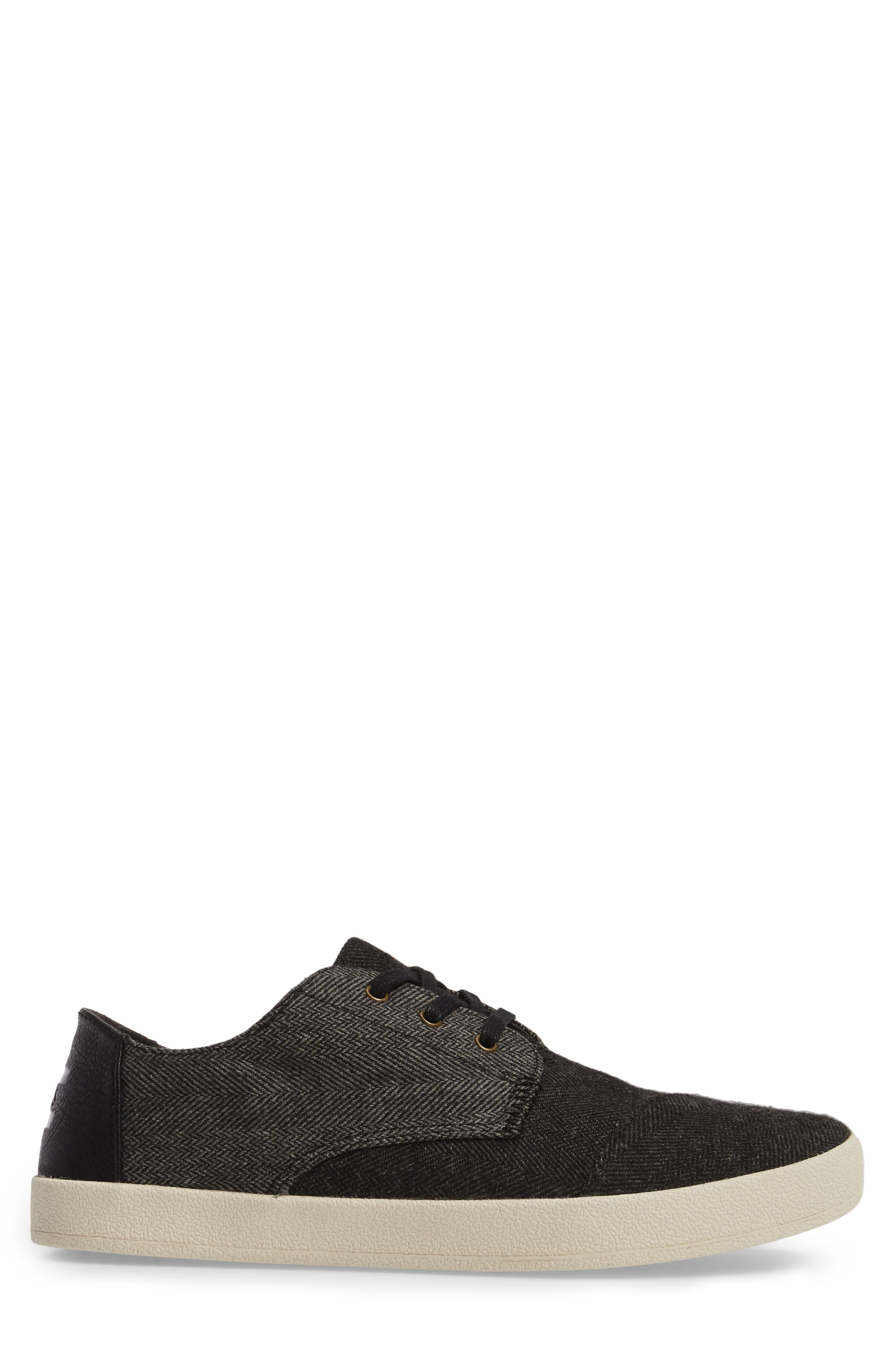 'Paseo' Sneaker,                             Alternate thumbnail 3, color,                             Black/ Grey