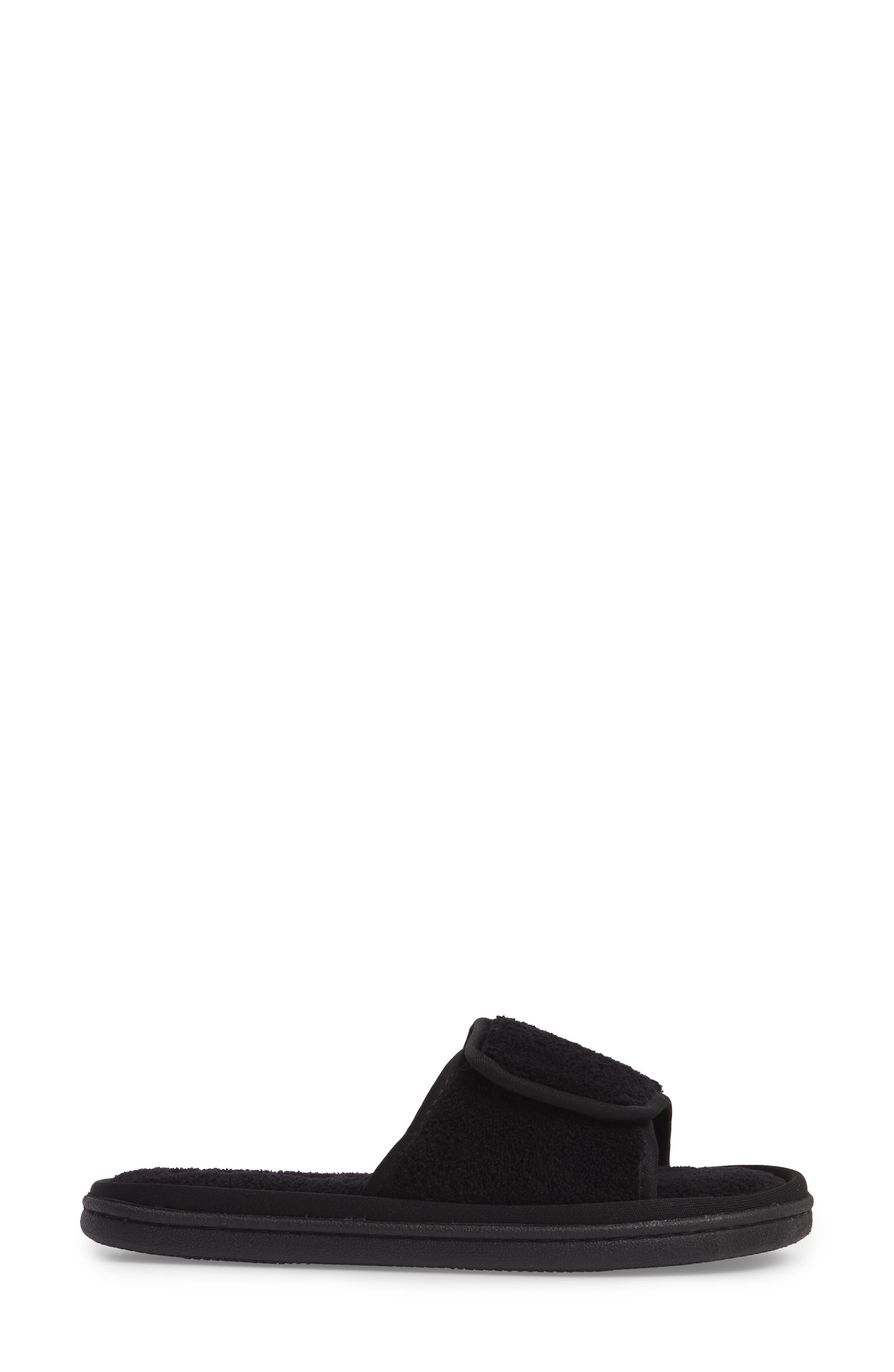 Geana Slipper,                             Alternate thumbnail 3, color,                             Black Fabric