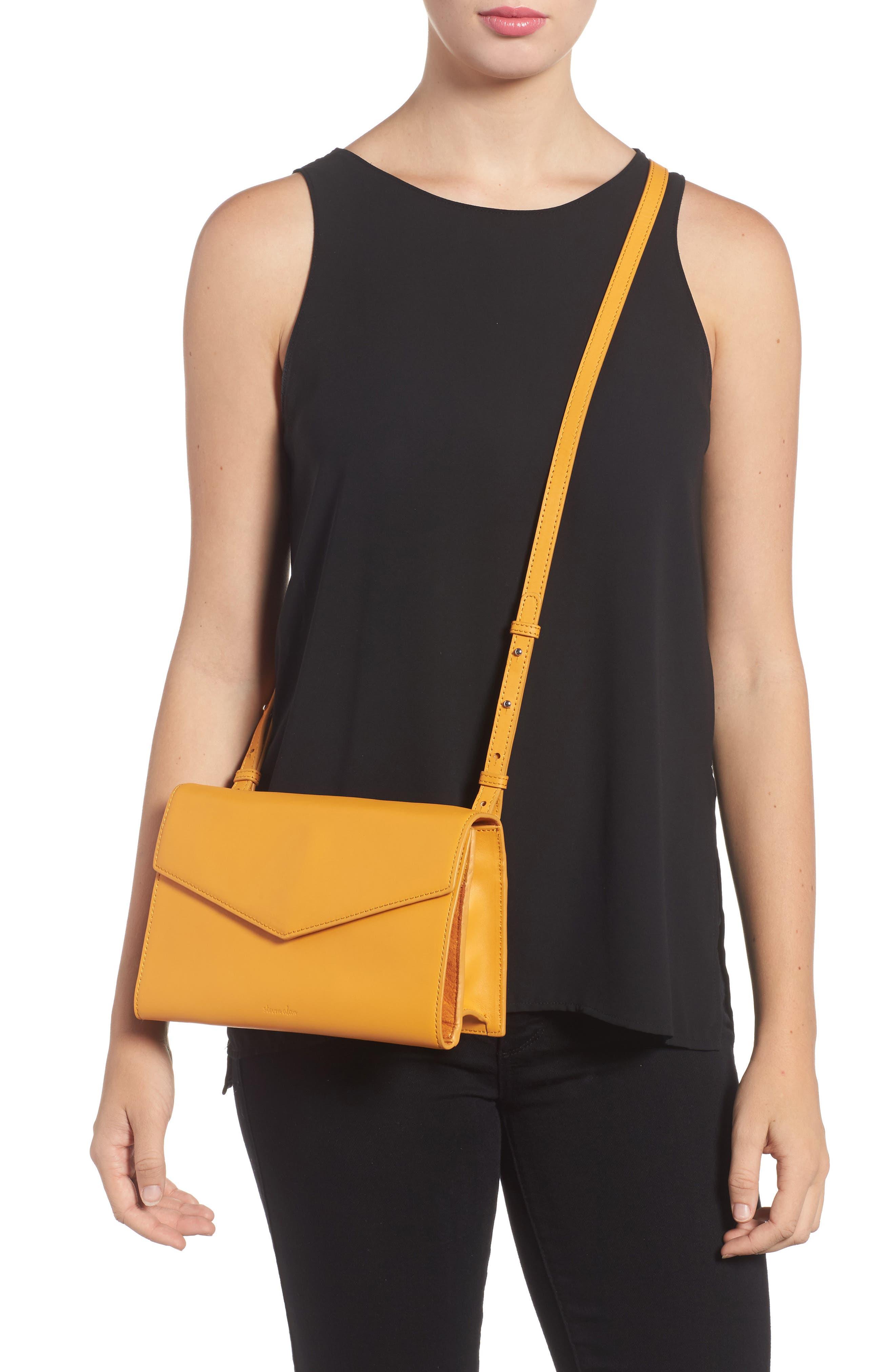 Easton Leather Envelope Crossbody Bag,                             Alternate thumbnail 2, color,                             Ochre