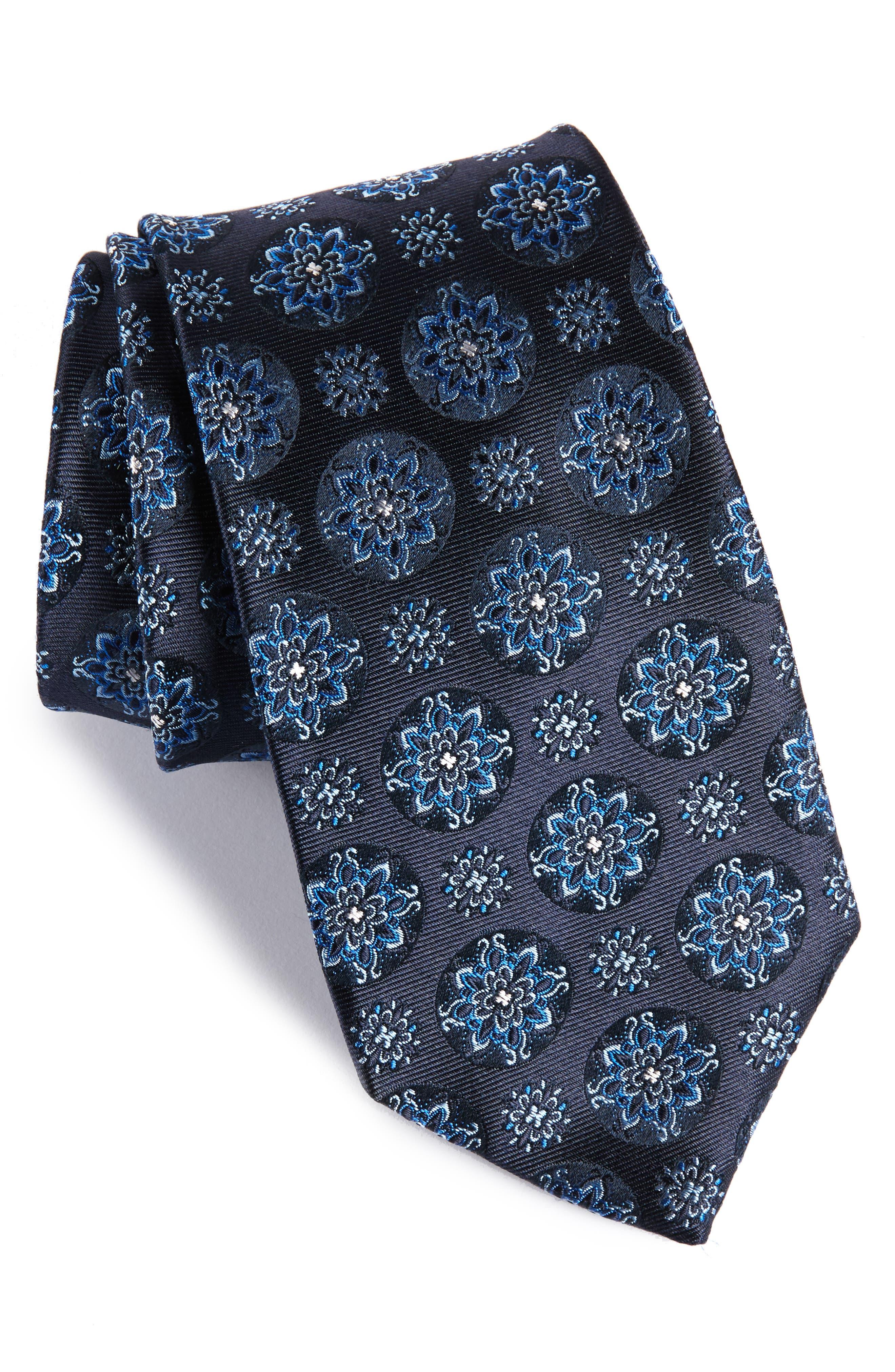 Alternate Image 1 Selected - BOSS Medallion Silk Tie