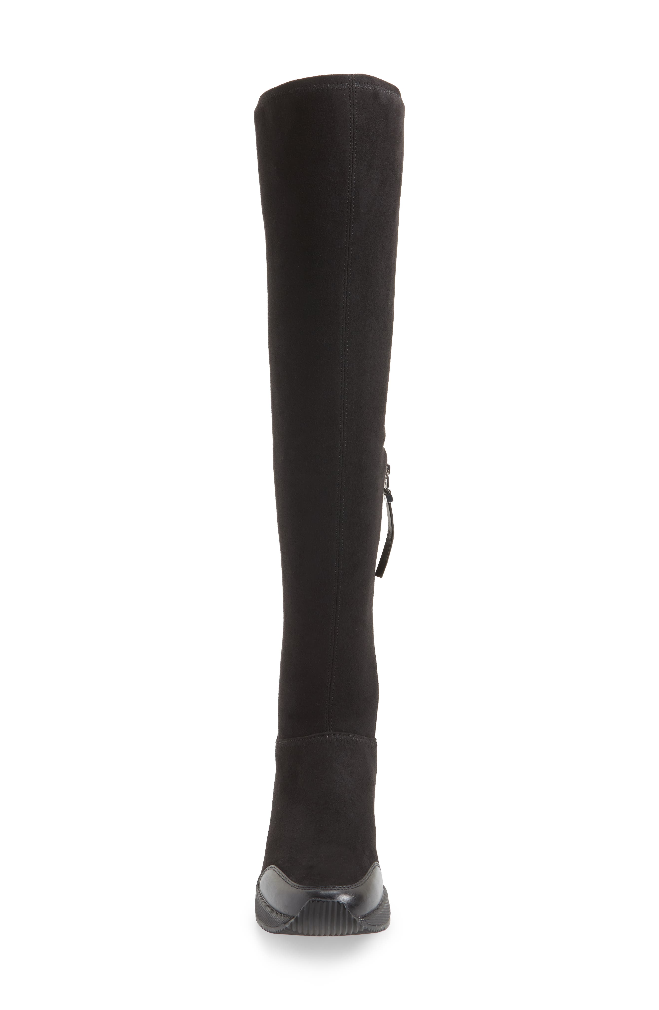 Ace Over the Knee Boot,                             Alternate thumbnail 4, color,                             Black Suede
