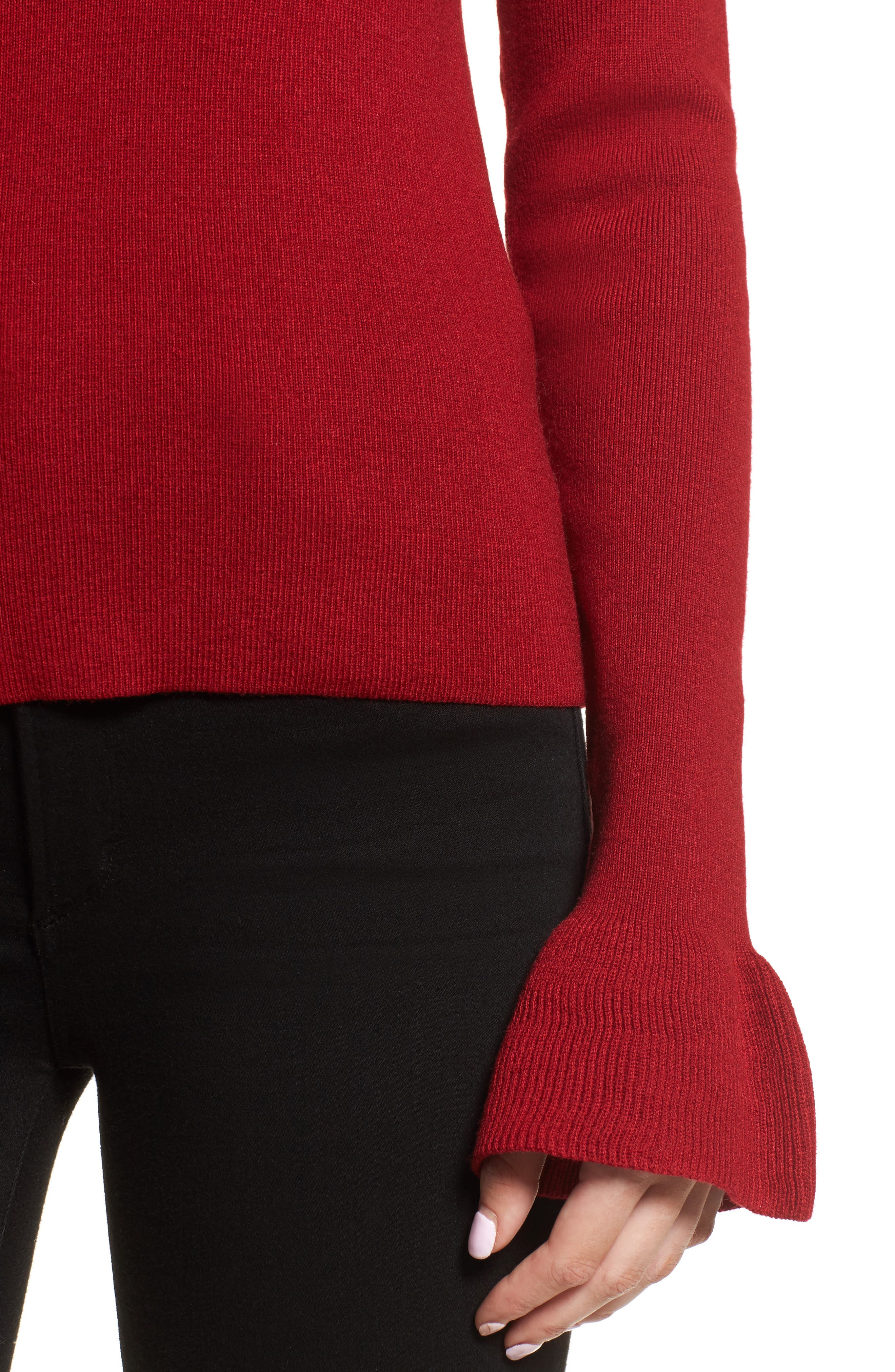 Alternate Image 4  - cupcakes and cashmere Tina Ruffle Cuff Sweater