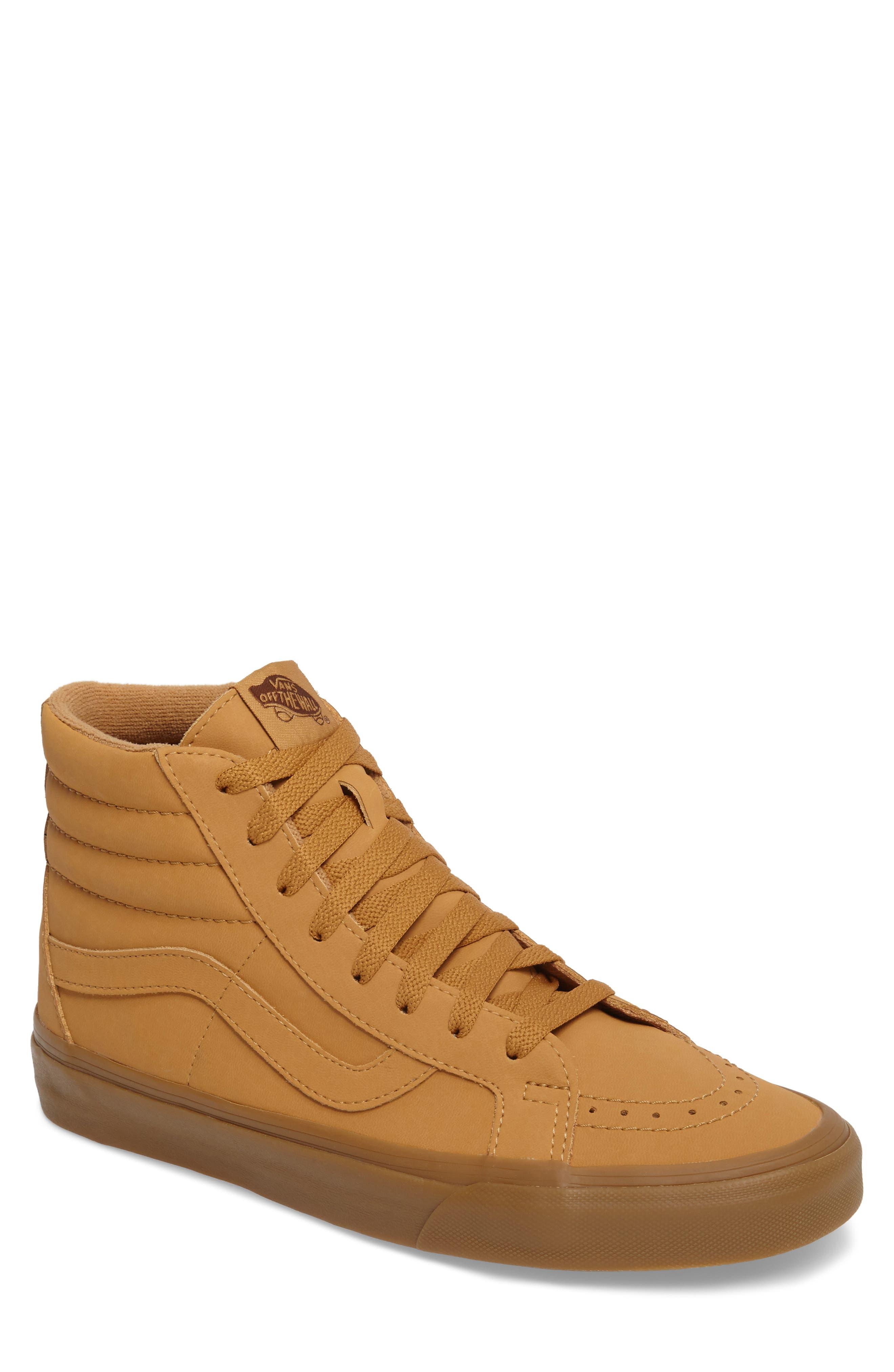 'Sk8-Hi Reissue' Sneaker,                             Main thumbnail 1, color,                             Light Gum/ Mono Canvas/Leather