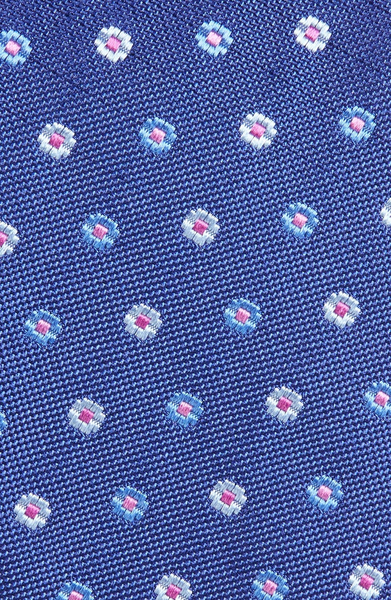 Alternate Image 2  - David Donahue Neat Floral Medallion Silk Tie