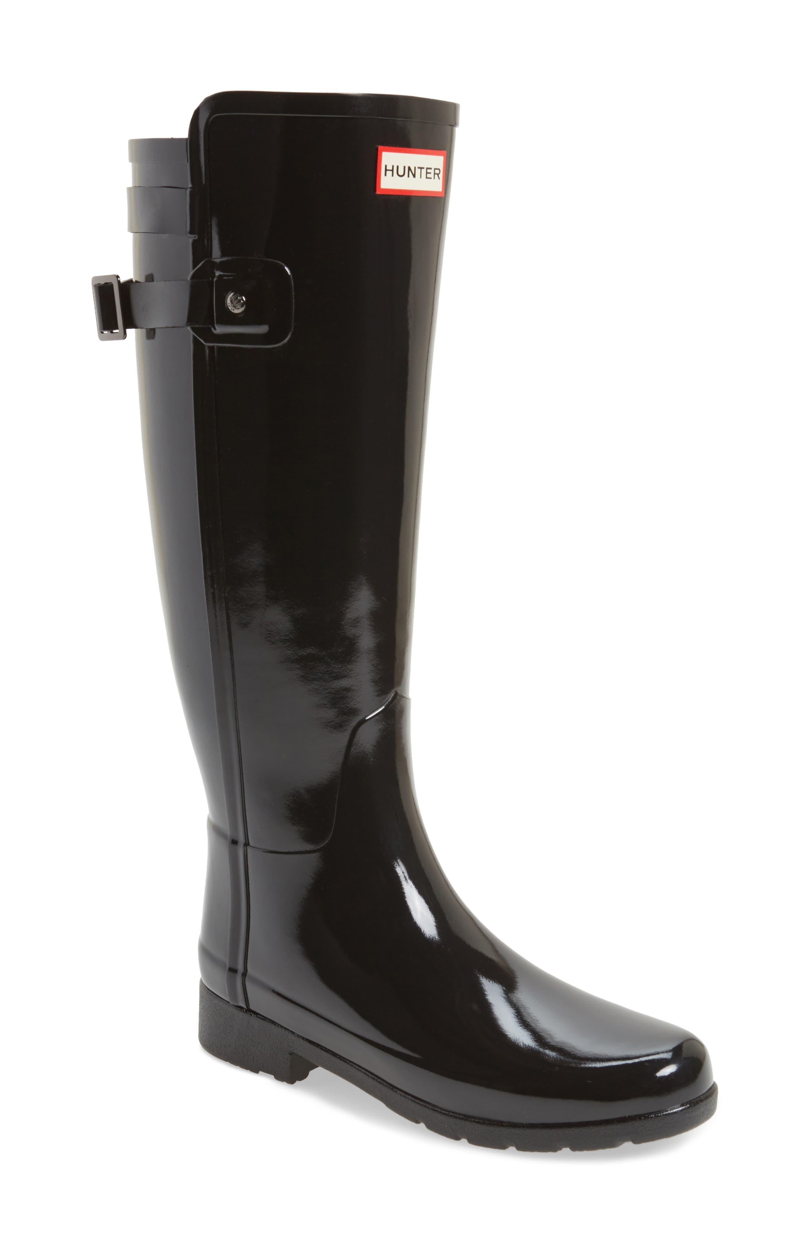 Main Image - Hunter Original Refined High Gloss Rain Boot (Women)