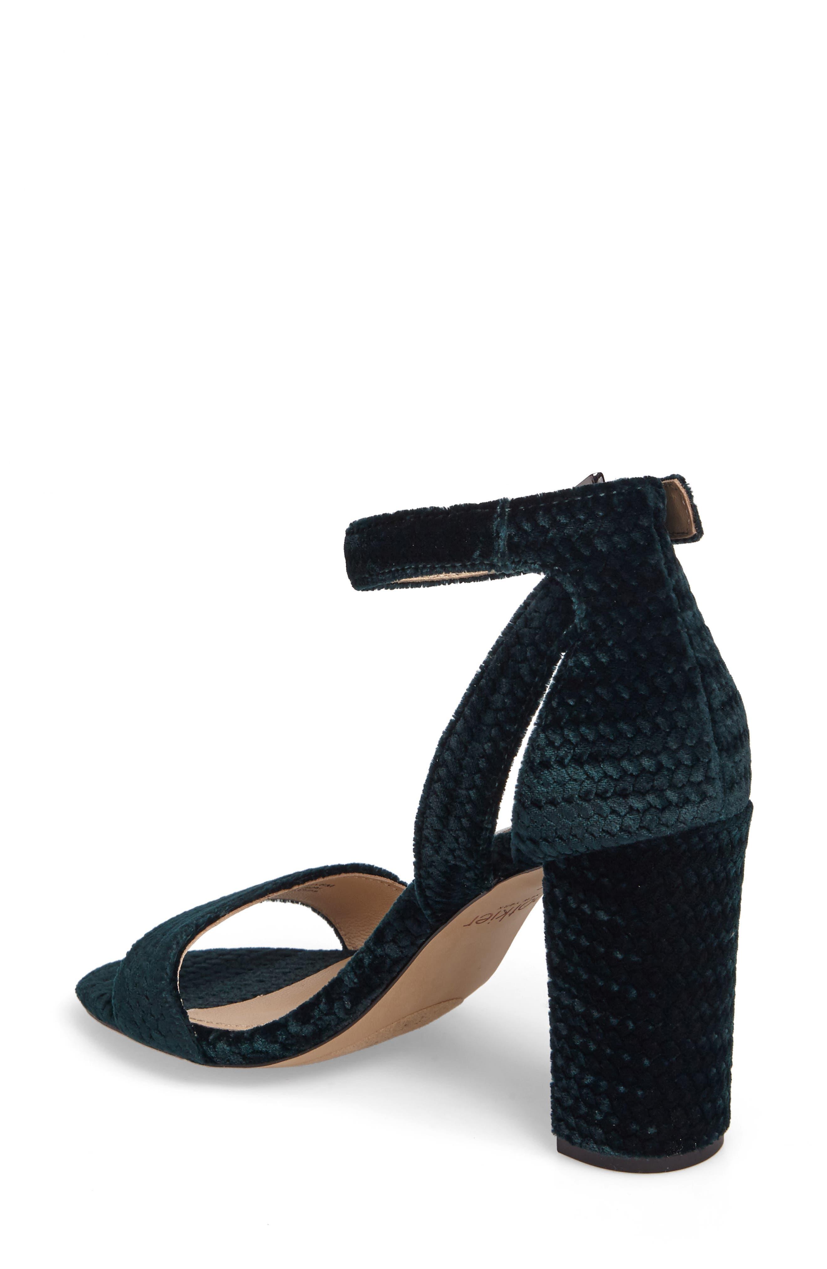 Gianna Ankle Strap Sandal,                             Alternate thumbnail 2, color,                             Emerald Velvet