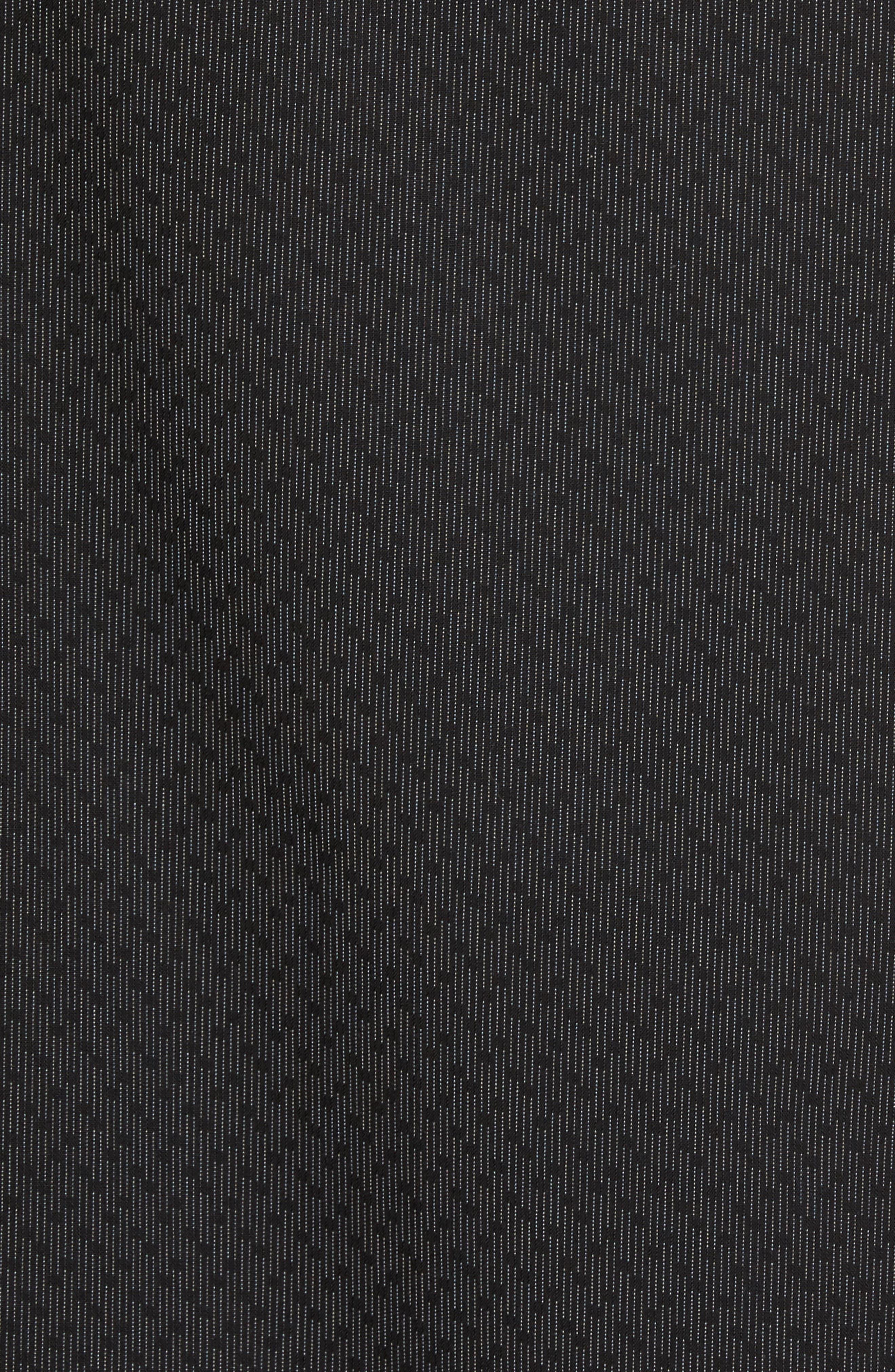 Trim Fit Print Sport Shirt,                             Alternate thumbnail 5, color,                             Black Caviar Dot Dobby