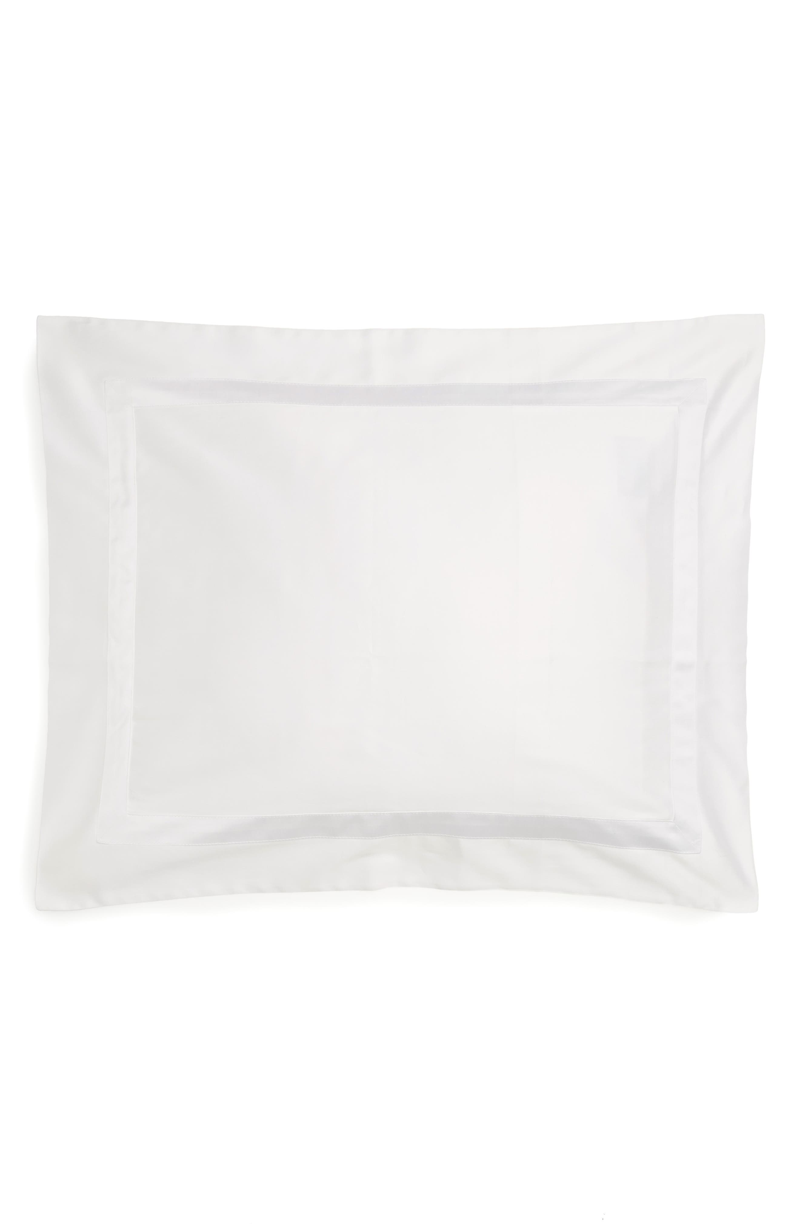 Nocturne 600 Thread Count Sham,                             Main thumbnail 1, color,                             White