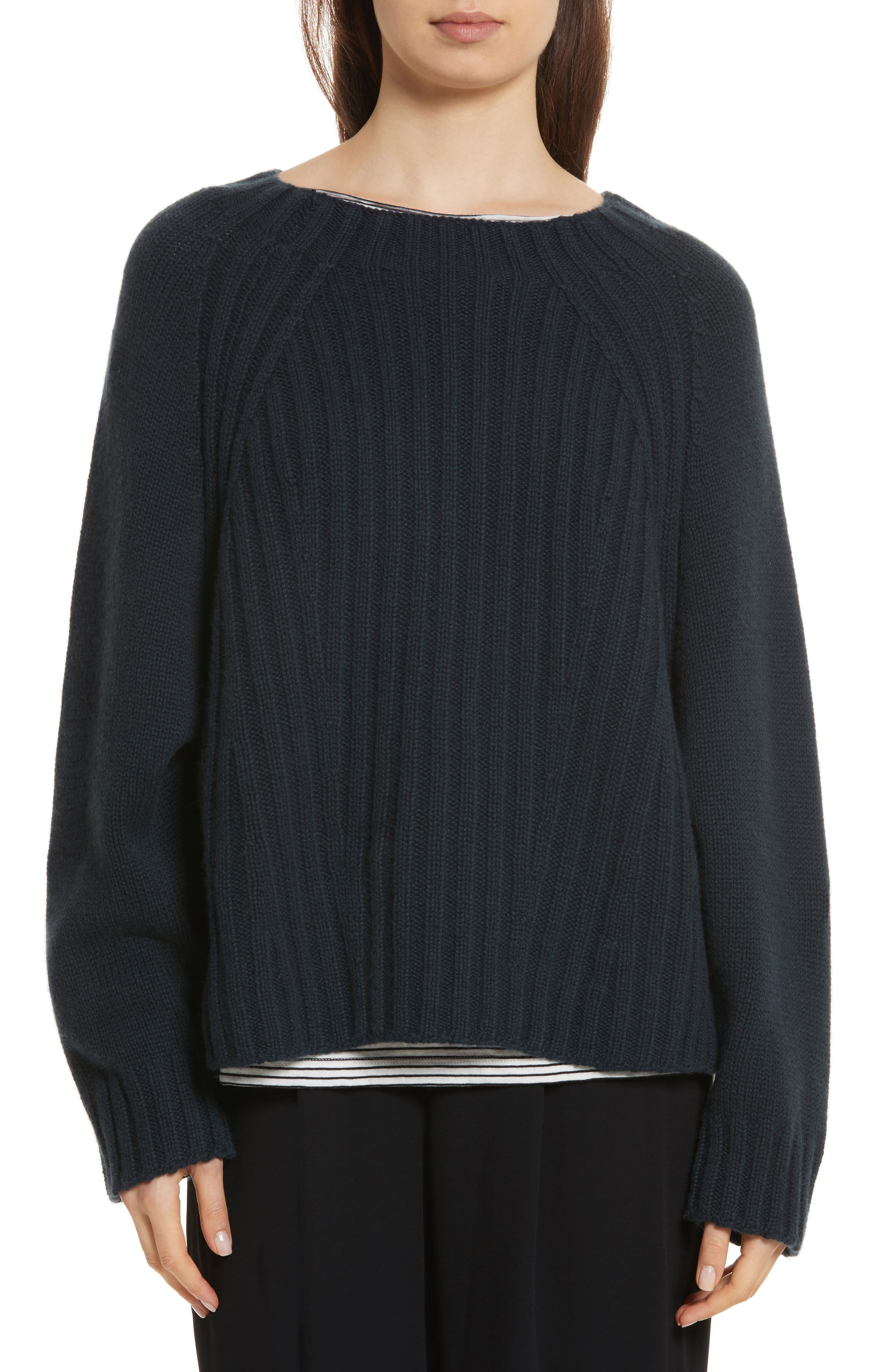 Alternate Image 1 Selected - Vince Ribbed Wool & Cashmere Sweater