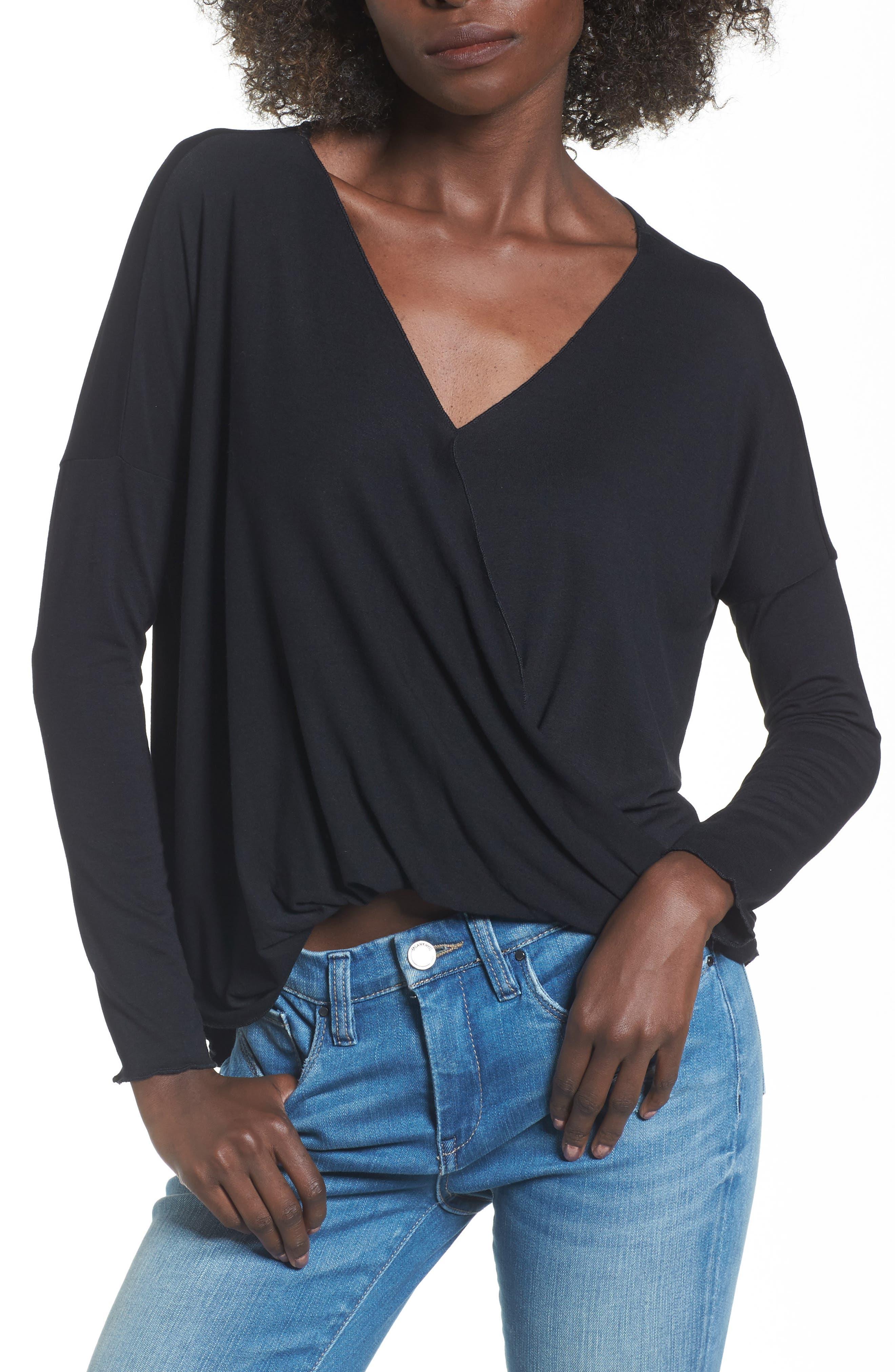 Alternate Image 1 Selected - Lira Clothing Modern Surplice Top