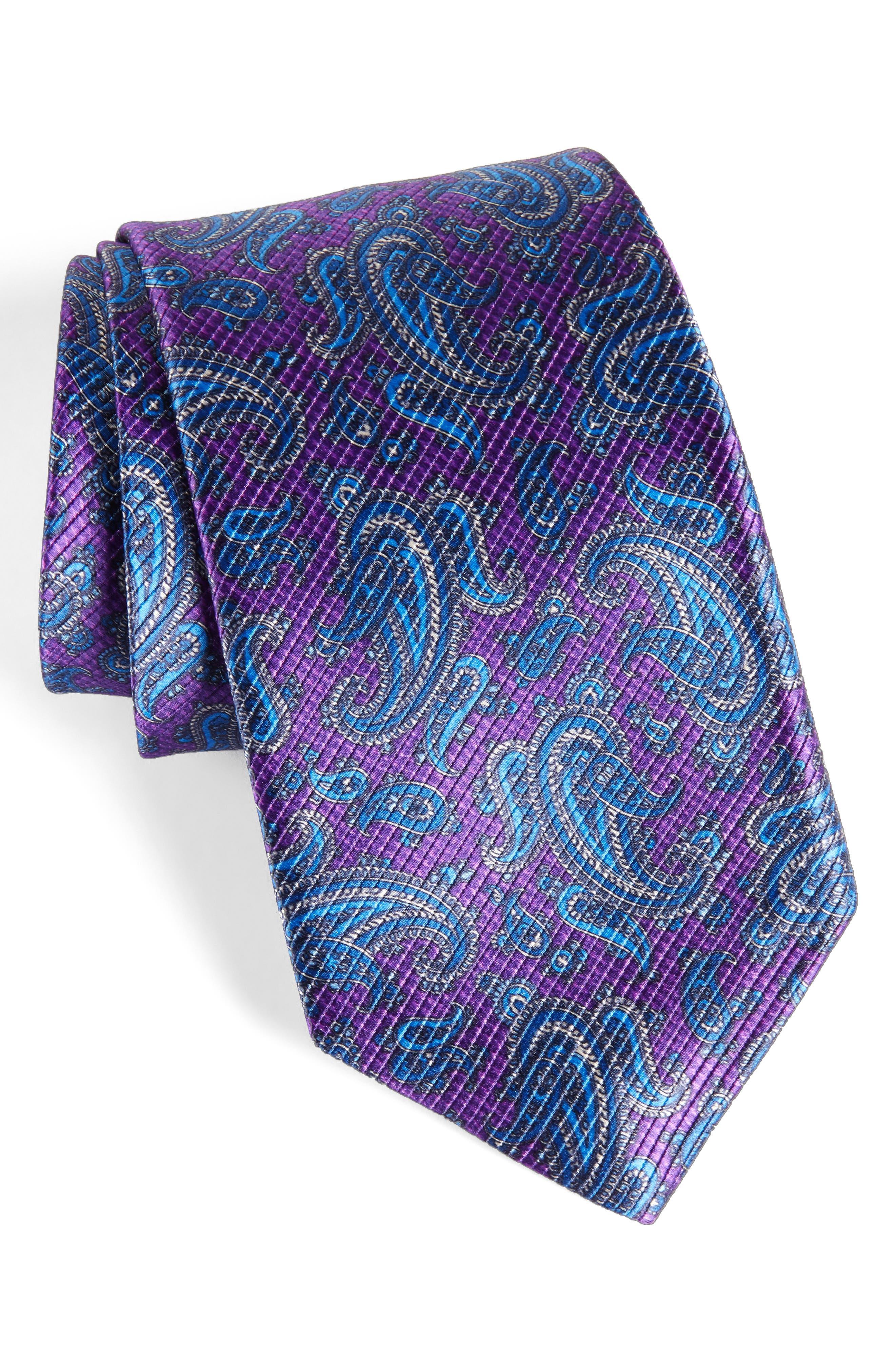 Main Image - David Donahue Paisley Silk Tie