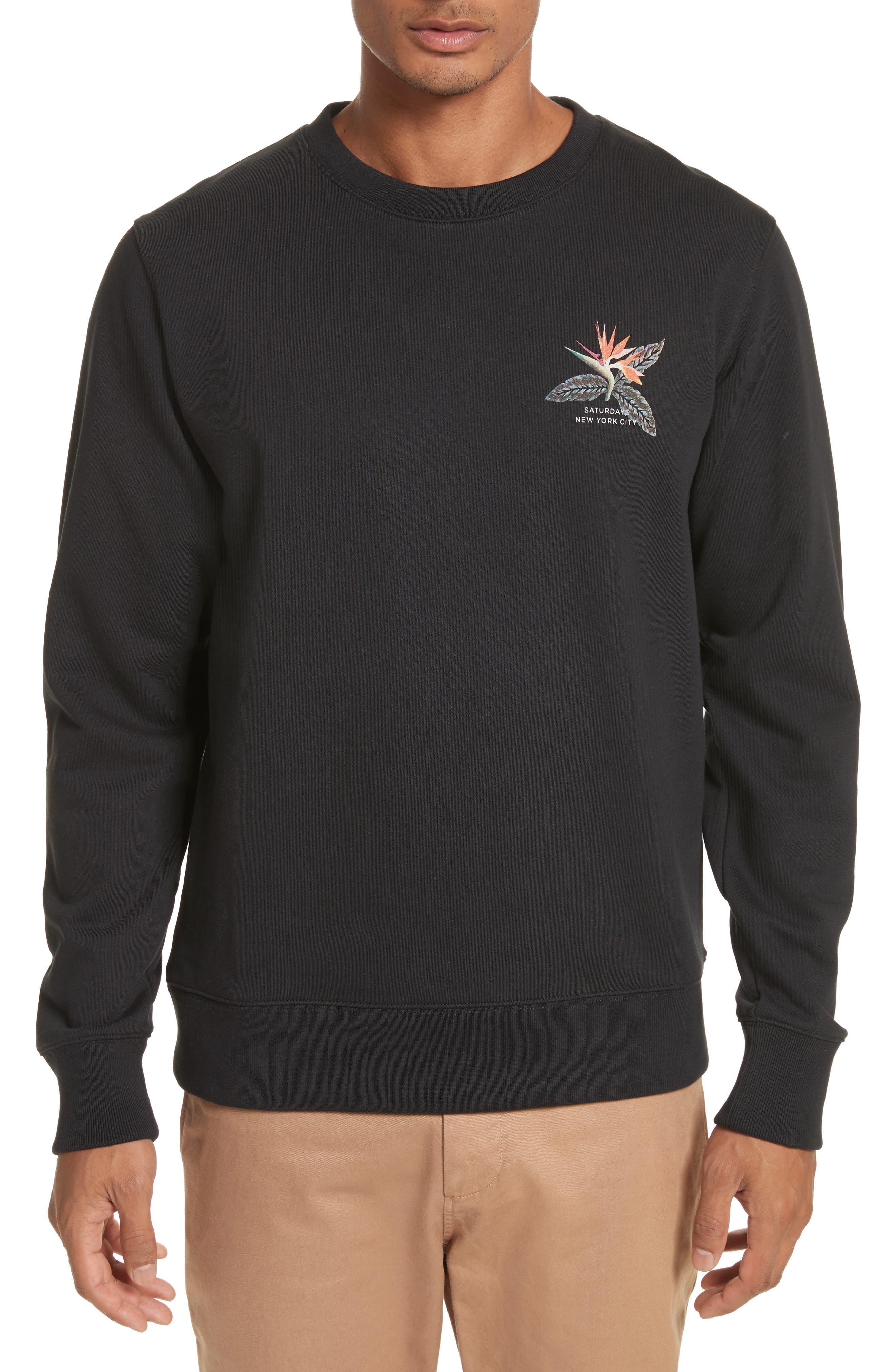 Browery Paradise Graphic Sweatshirt,                             Main thumbnail 1, color,                             Black