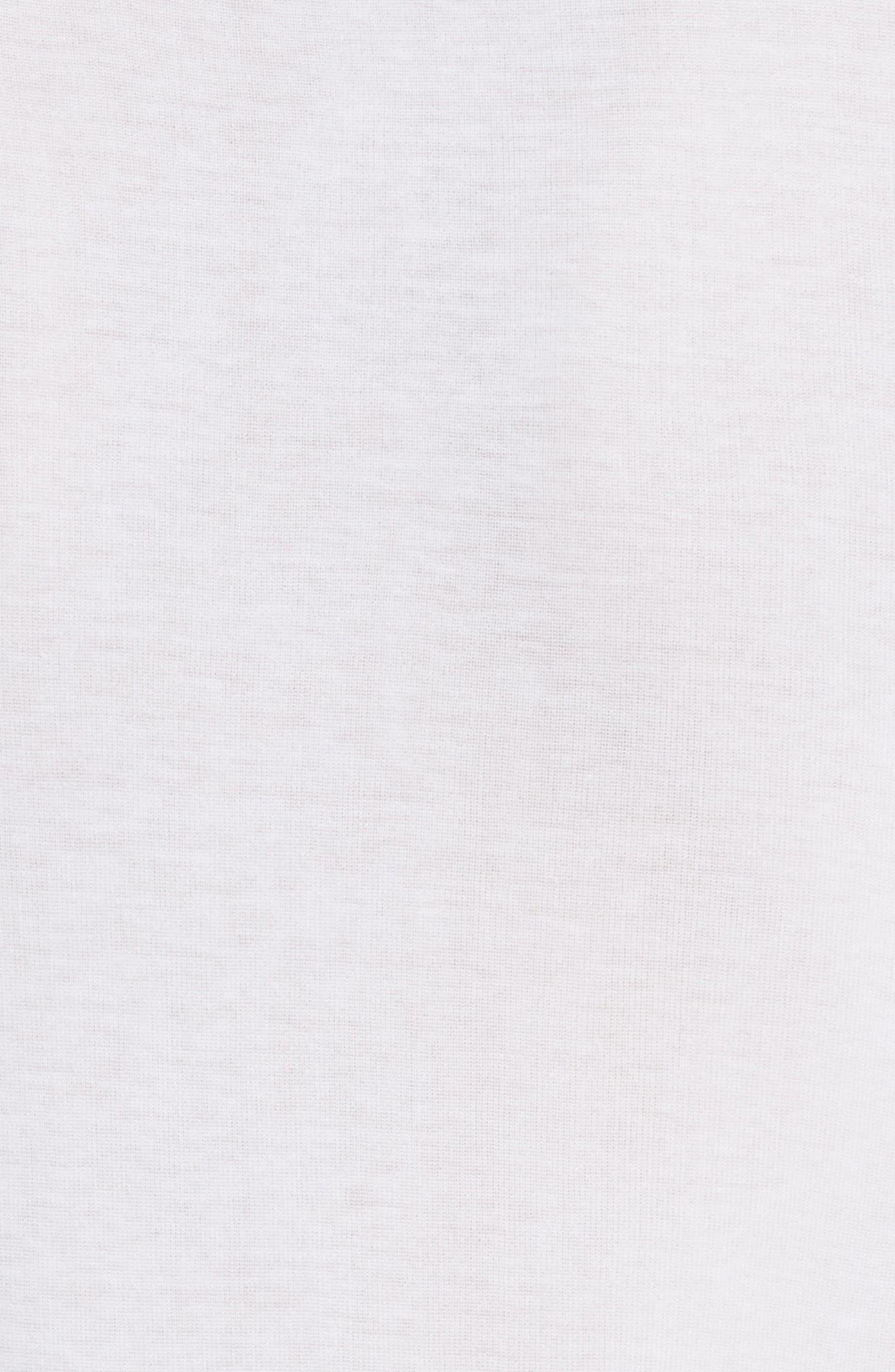 Solid Ringer Crewneck Tee,                             Alternate thumbnail 5, color,                             Optic White