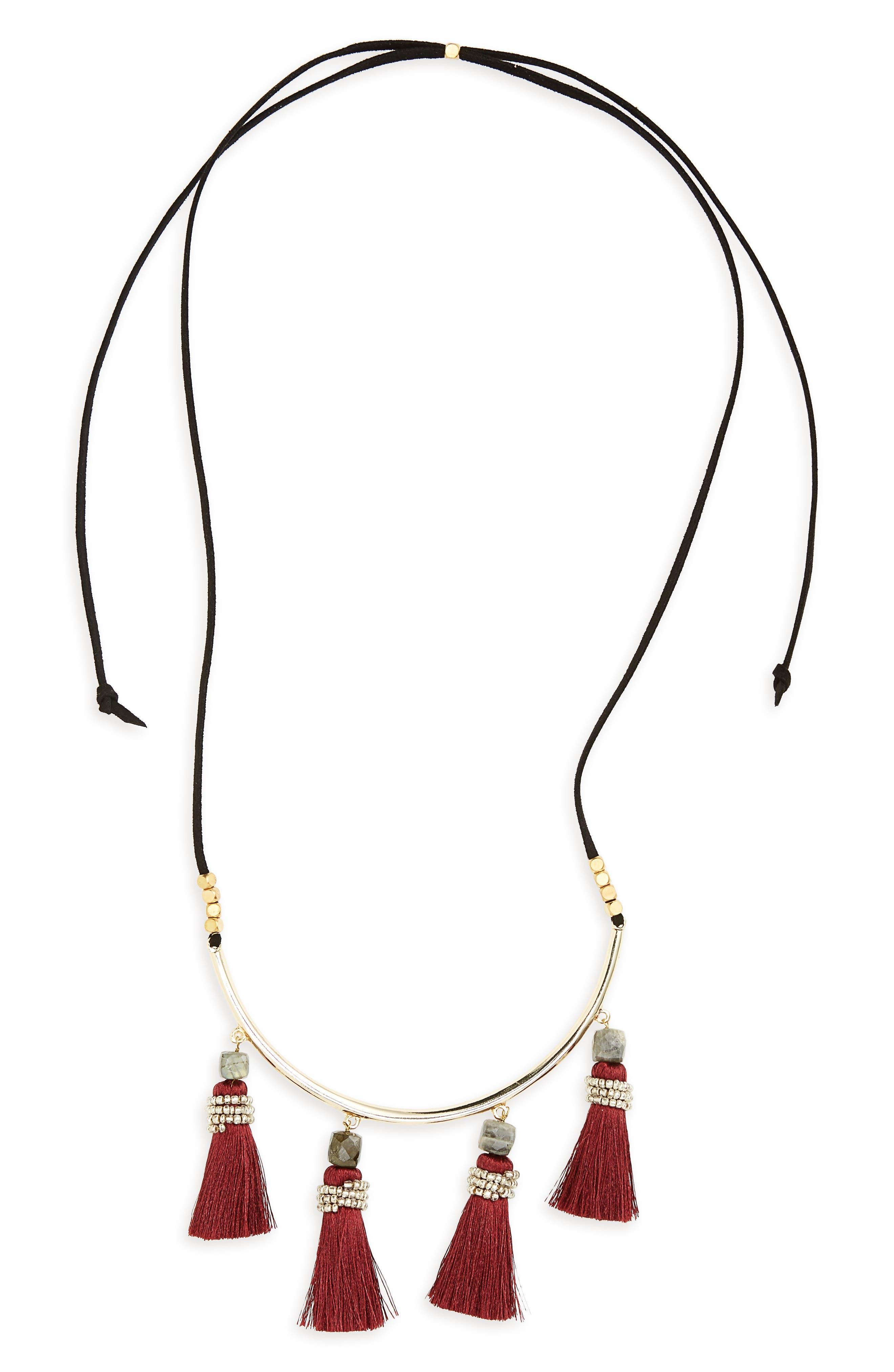 Main Image - Panacea Tassel Necklace