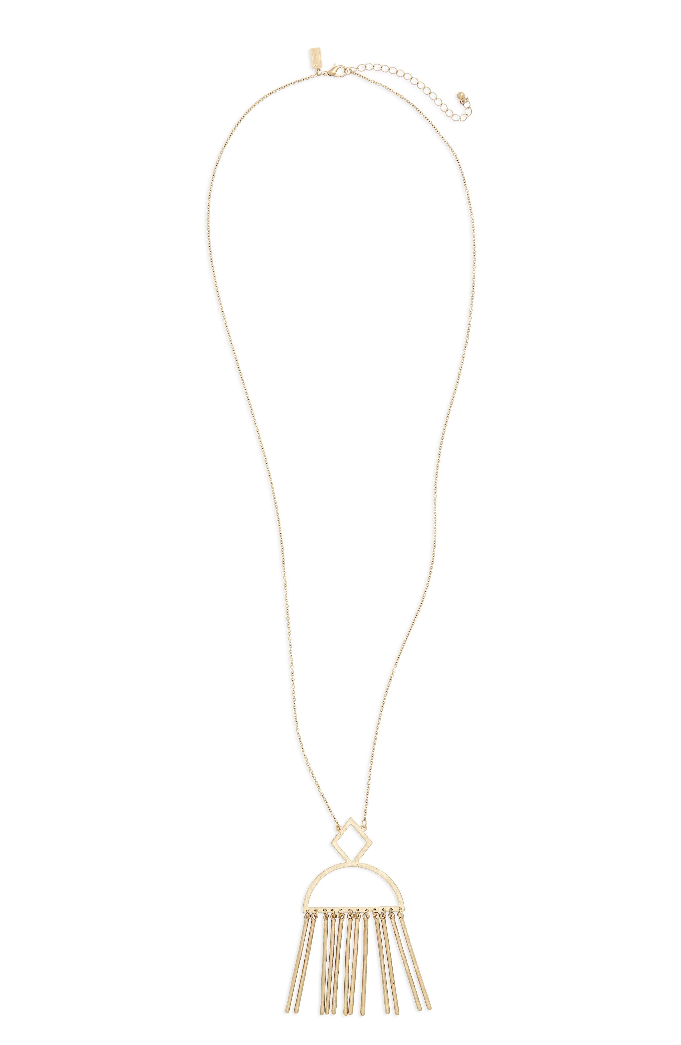 Canvas Jewelry Moon Pendant Necklace