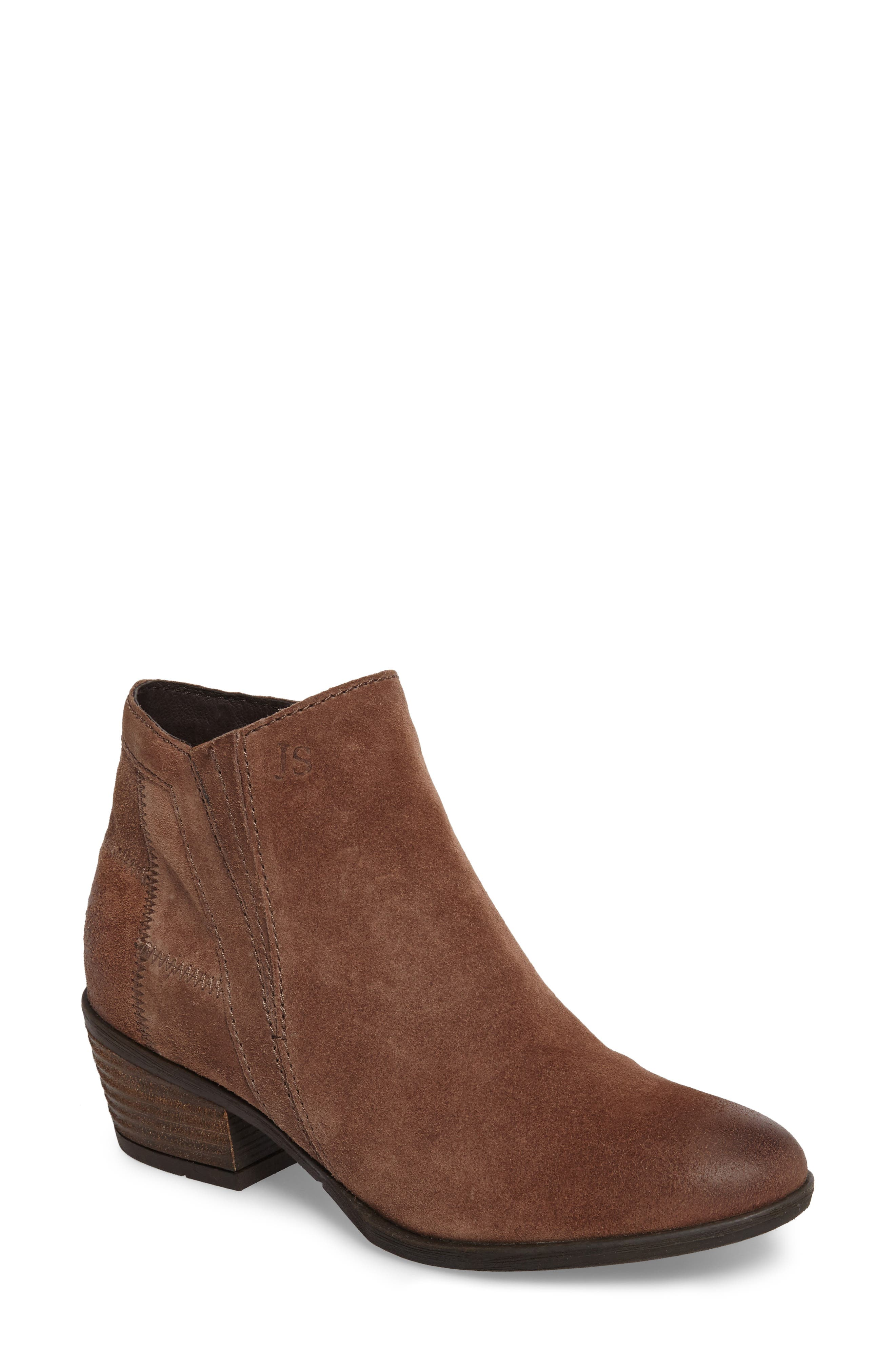 Daphne Bootie,                         Main,                         color, Brown Leather