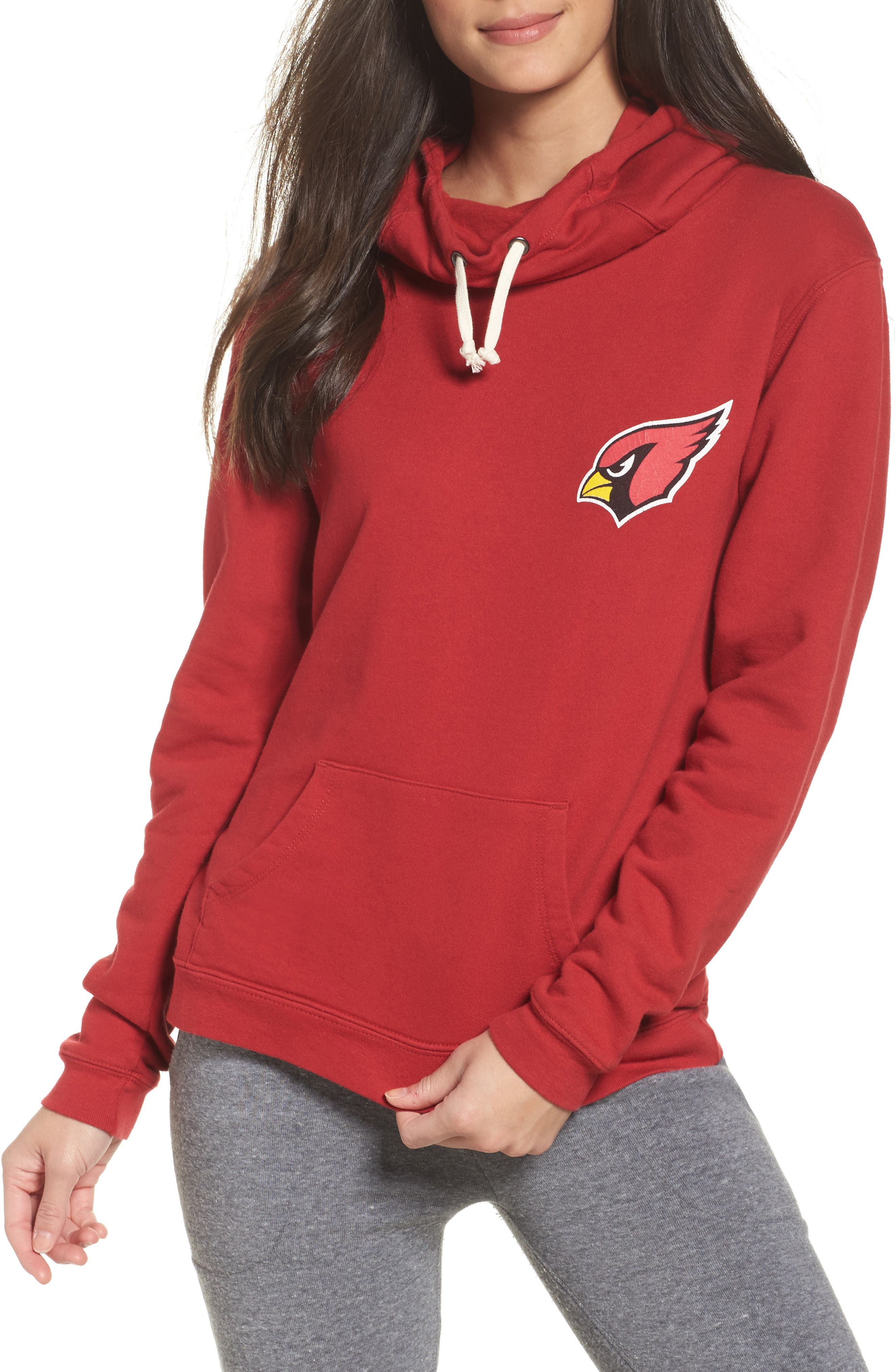 NFL Arizona Cardinals Sunday Hoodie,                             Main thumbnail 1, color,                             Cardinal