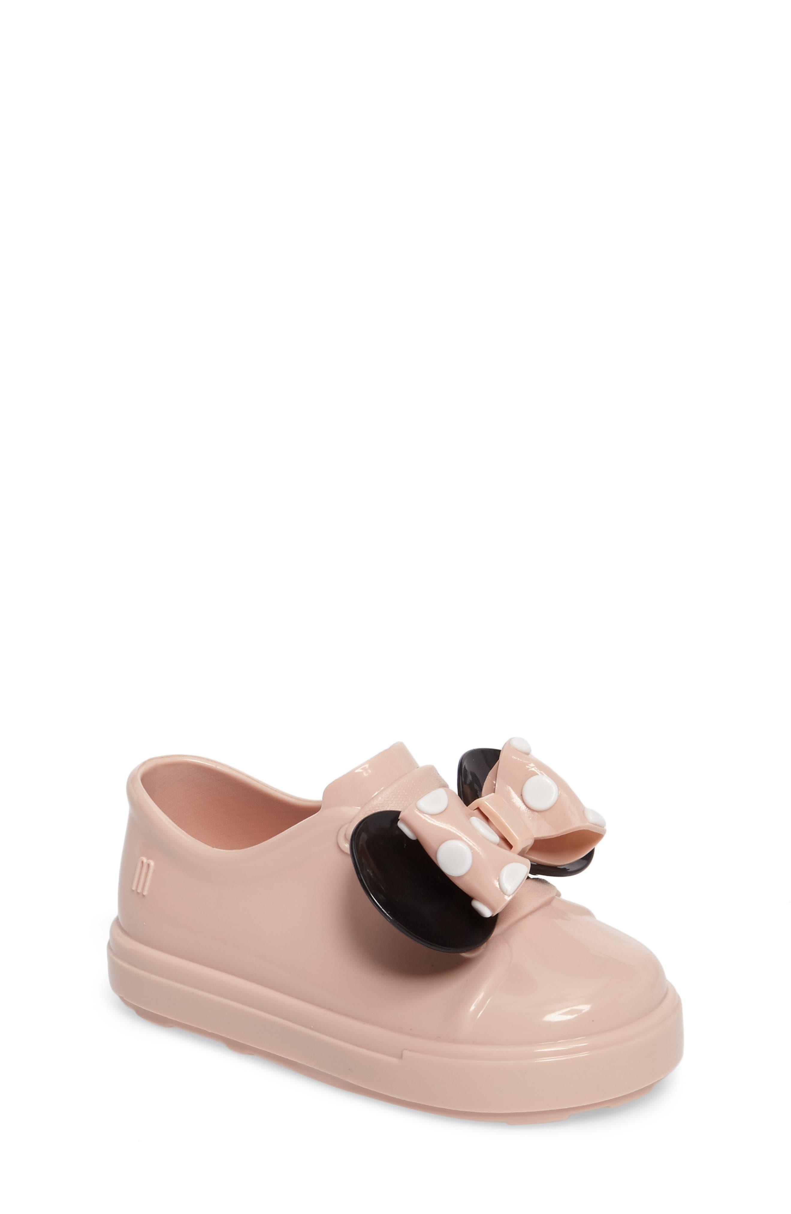 Alternate Image 1 Selected - Mini Melissa Disney® Be Minnie Slip-On Sneaker (Walker & Toddler)