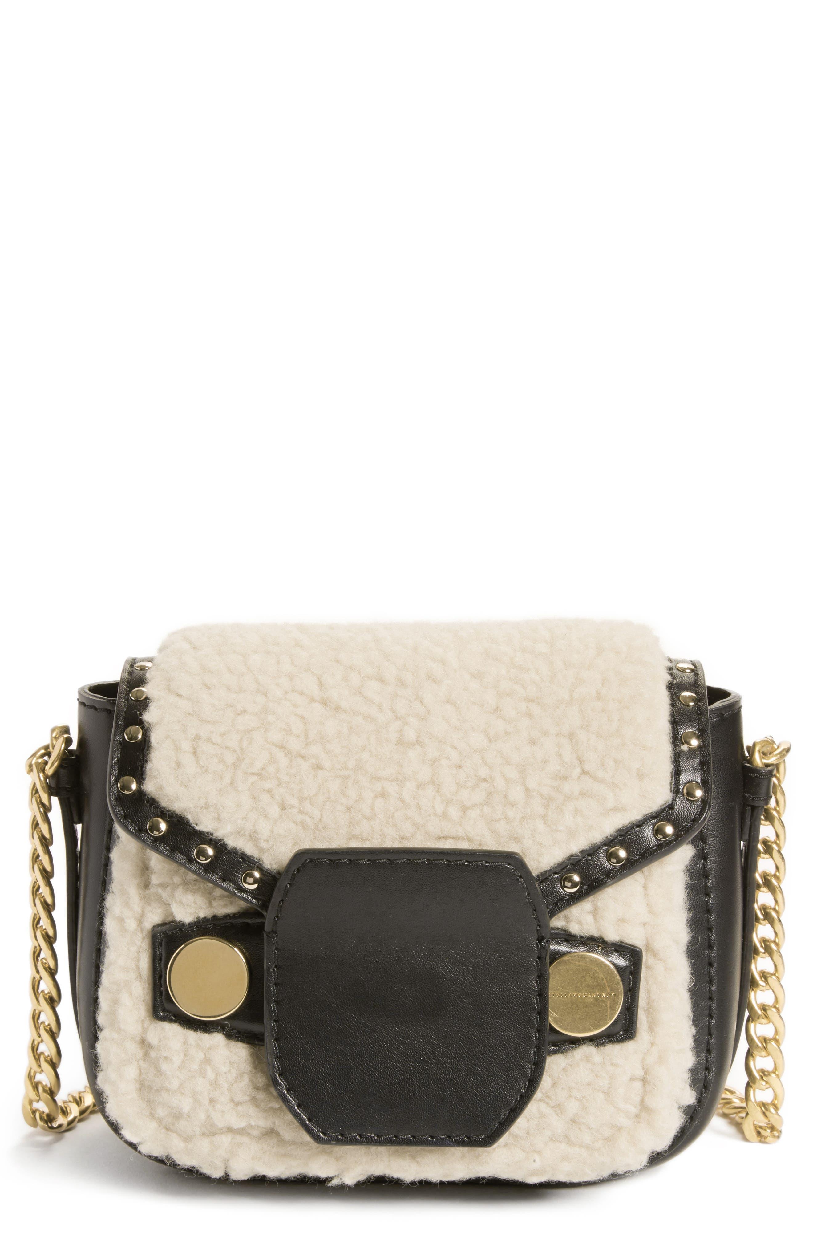 Stella McCartney Faux Shearling & Leather Crossbody Bag