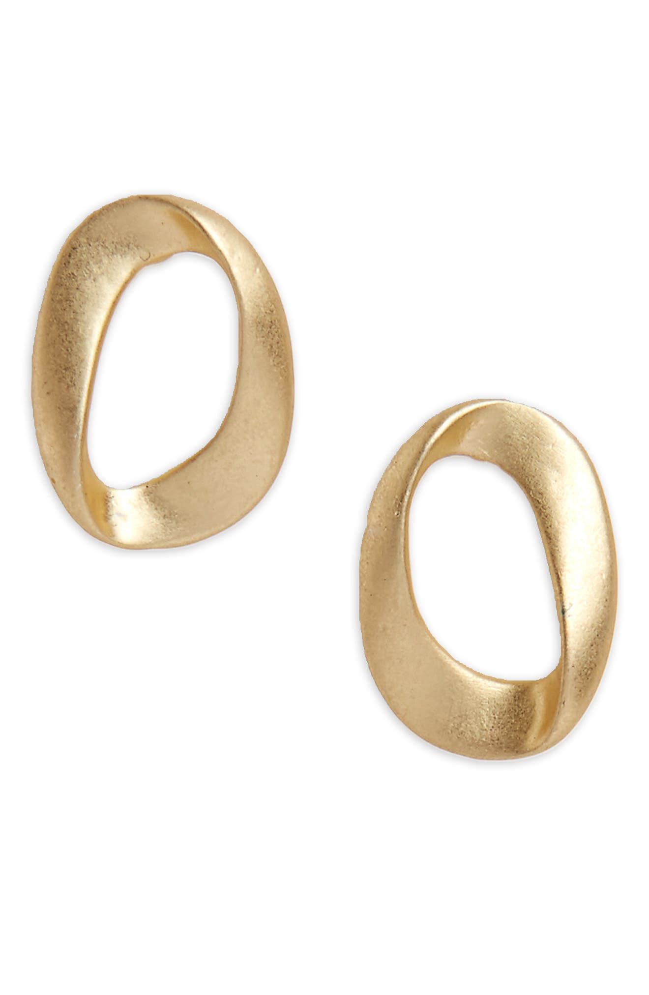 Main Image - Halogen® Brushed Loop Stud Earrings