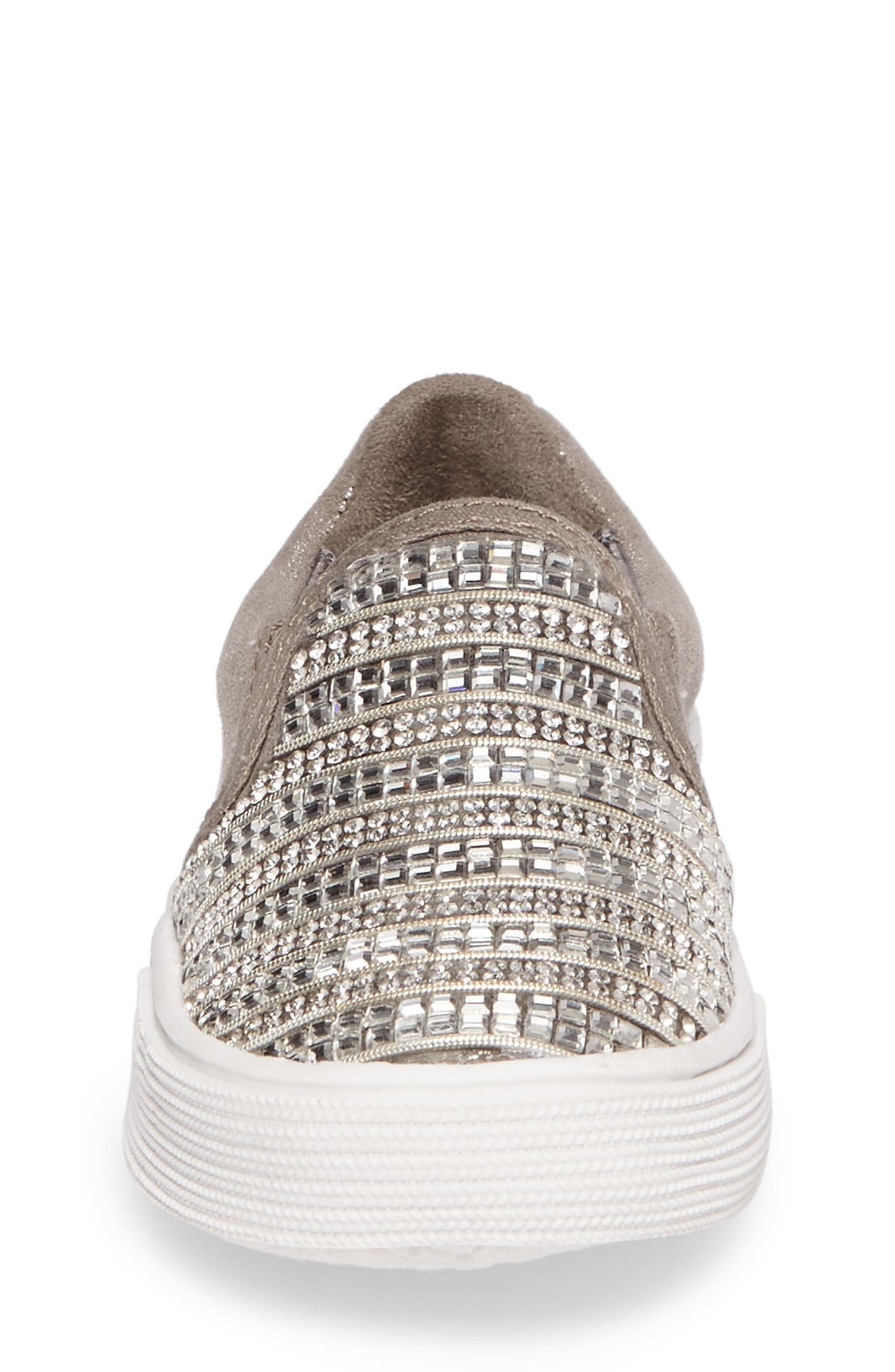 Alternate Image 4  - Stuart Weitzman Vance Glitz Embellished Slip-On Sneaker (Walker & Toddler)
