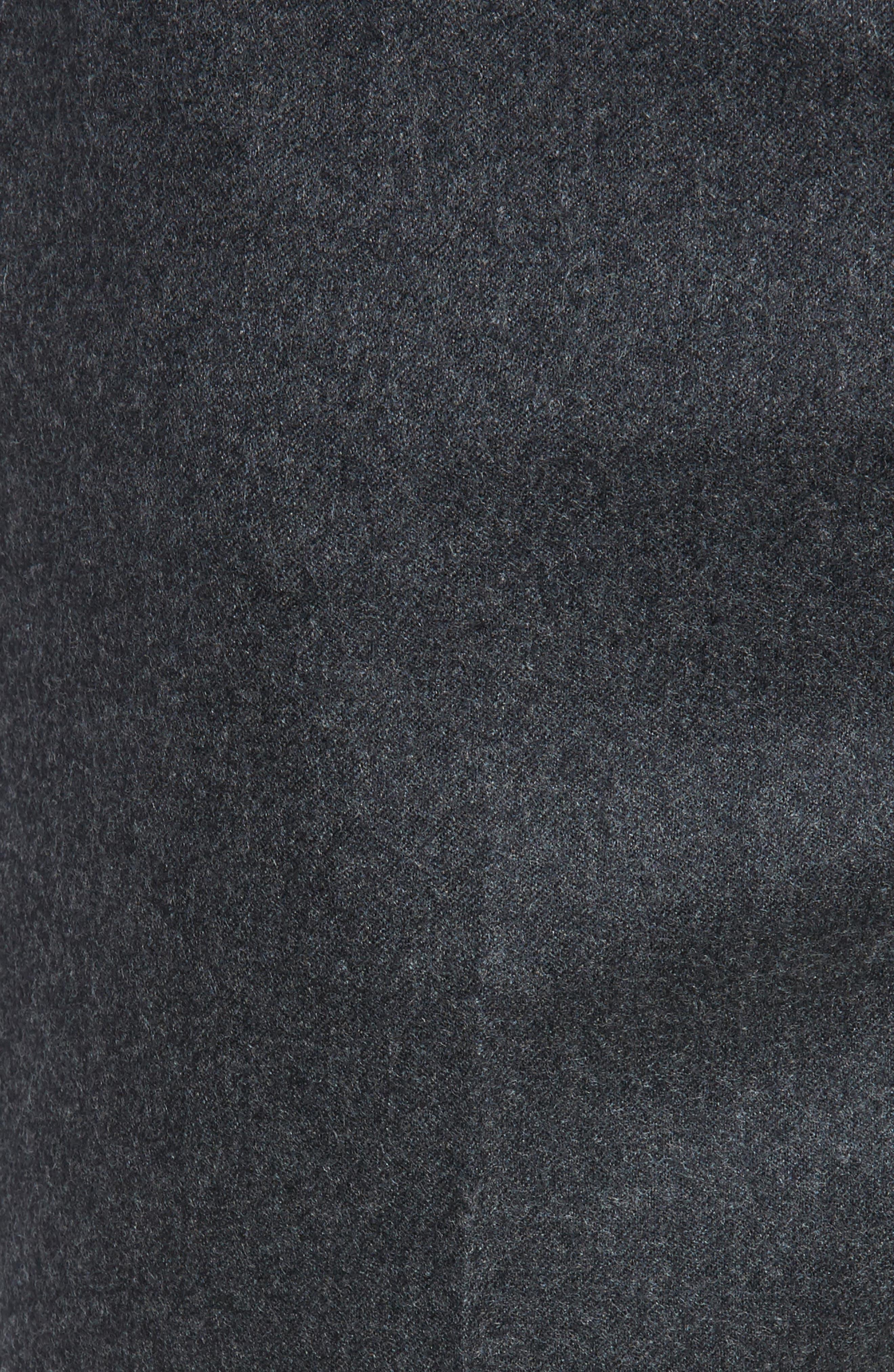 Alternate Image 2  - Zanella Devon Flat Front Solid Wool Flannel Trousers