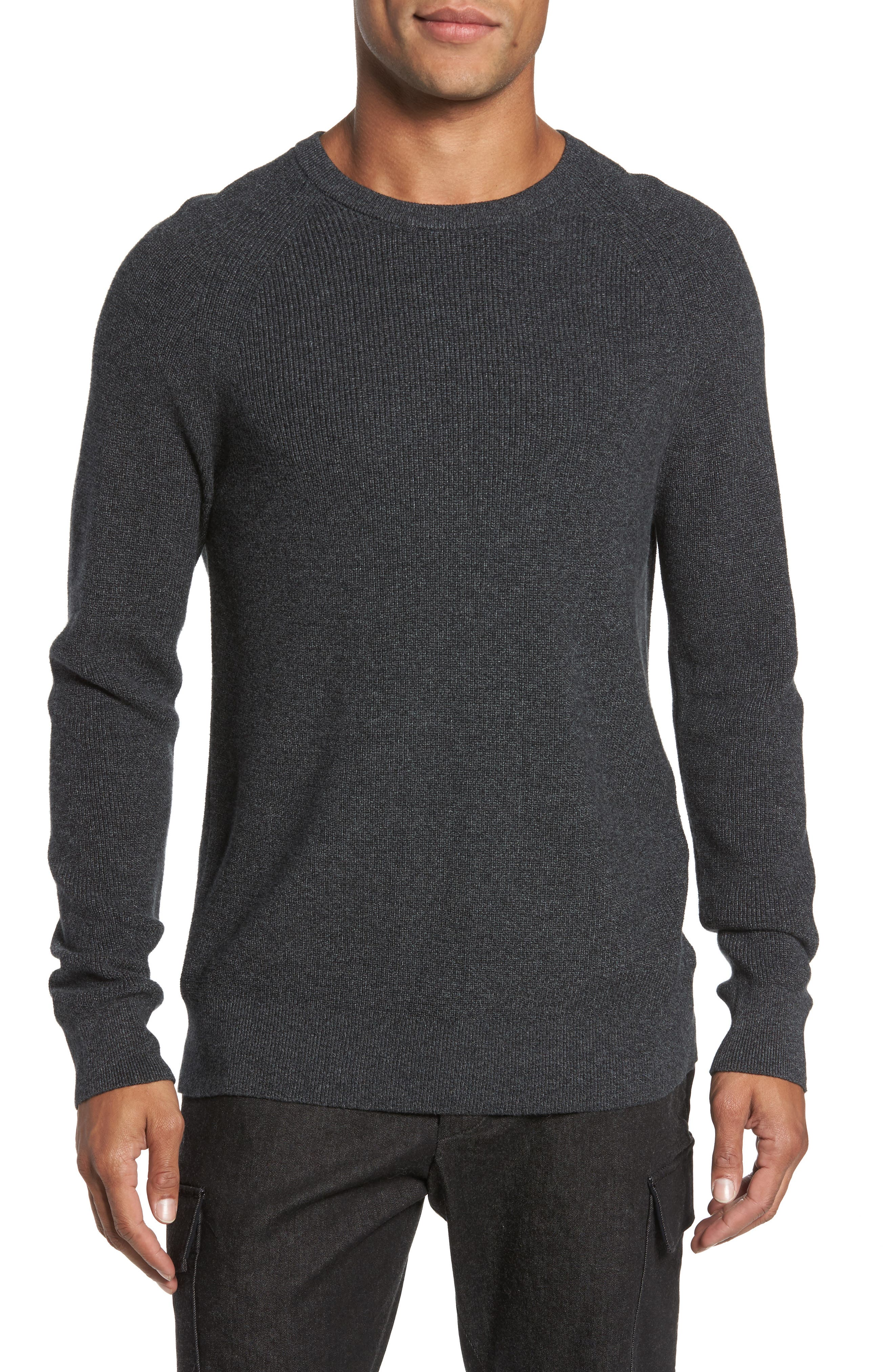 Alternate Image 1 Selected - French Connection Ribbed Crewneck Sweater