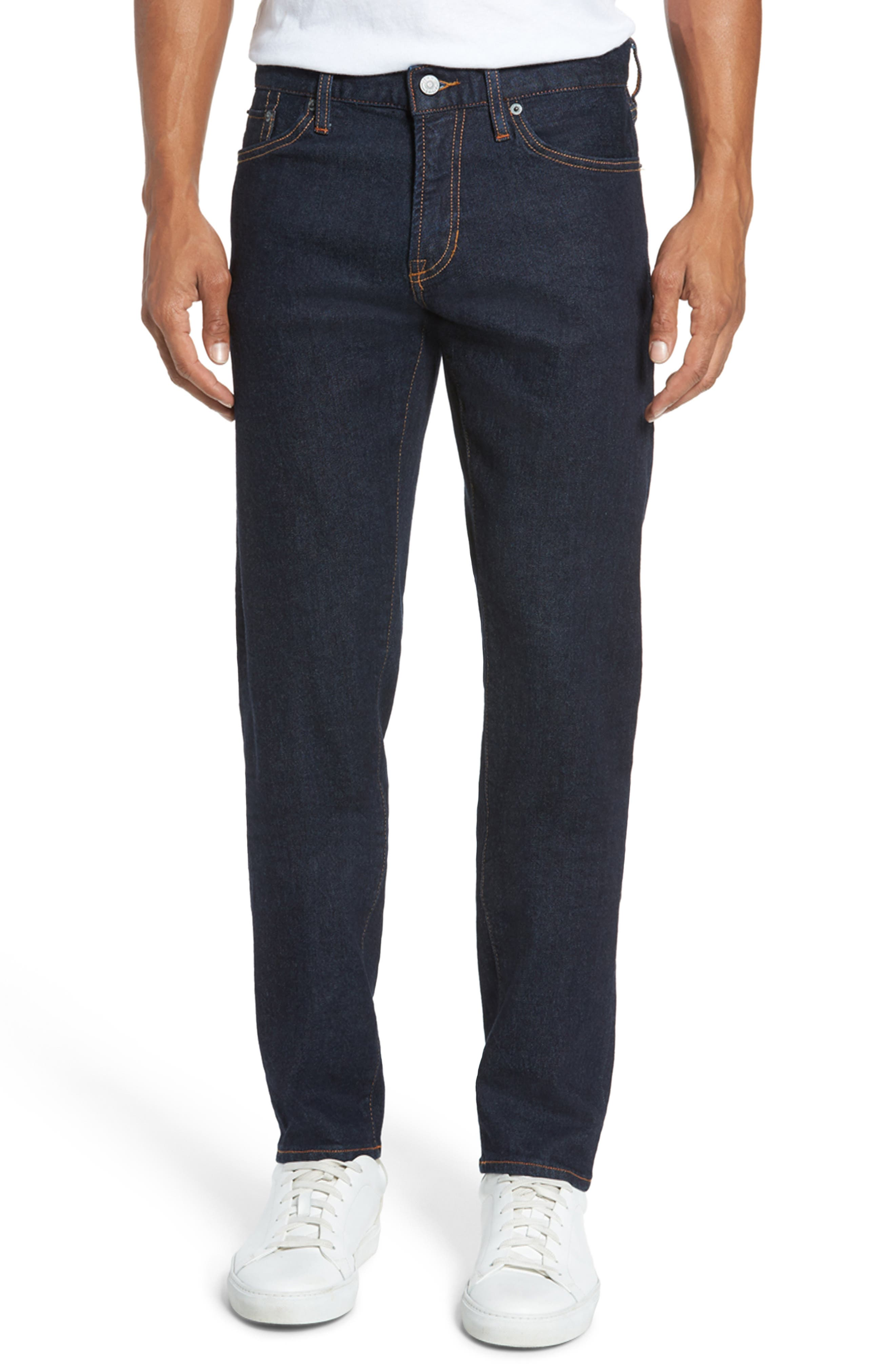Jim Slim Fit Selvedge Jeans,                         Main,                         color, Stretch Rinse