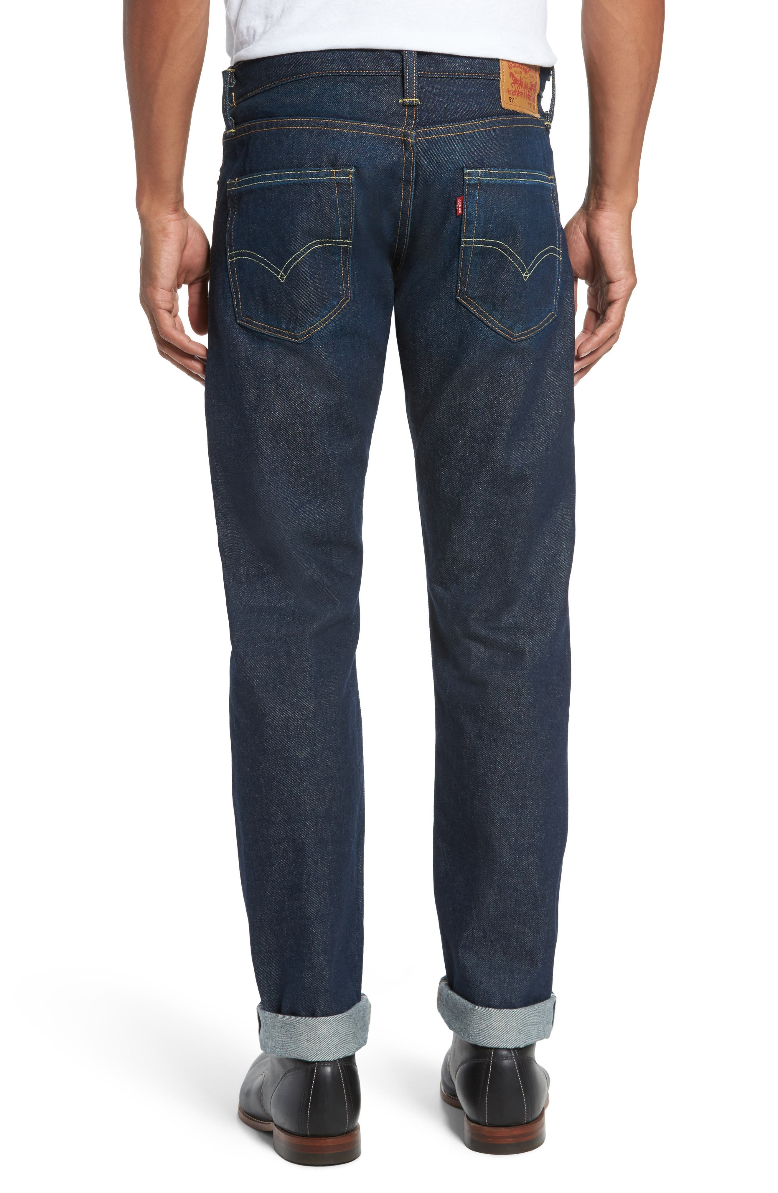Alternate Image 2  - Levi's® 511™ Slim Fit Jeans (Selvedge)