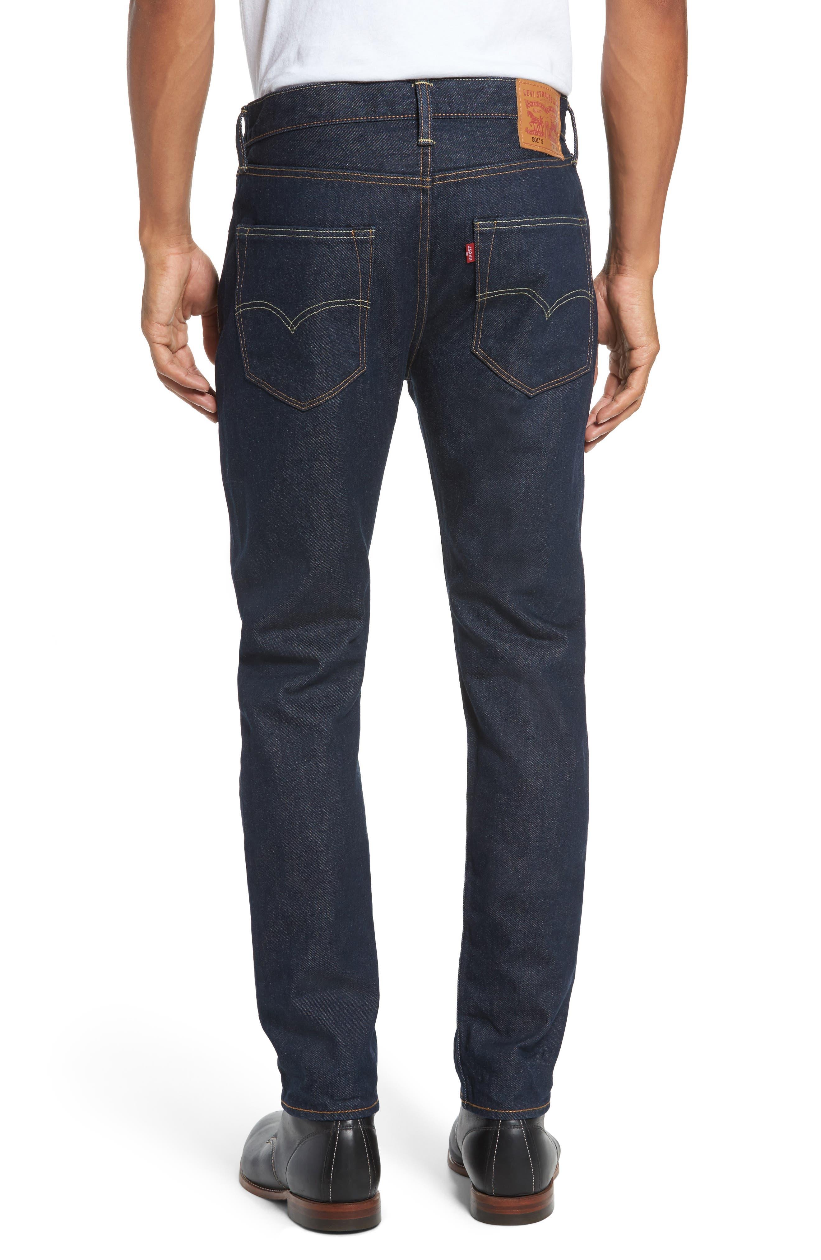 501<sup>™</sup> Skinny Leg Jeans,                             Alternate thumbnail 2, color,                             Noten
