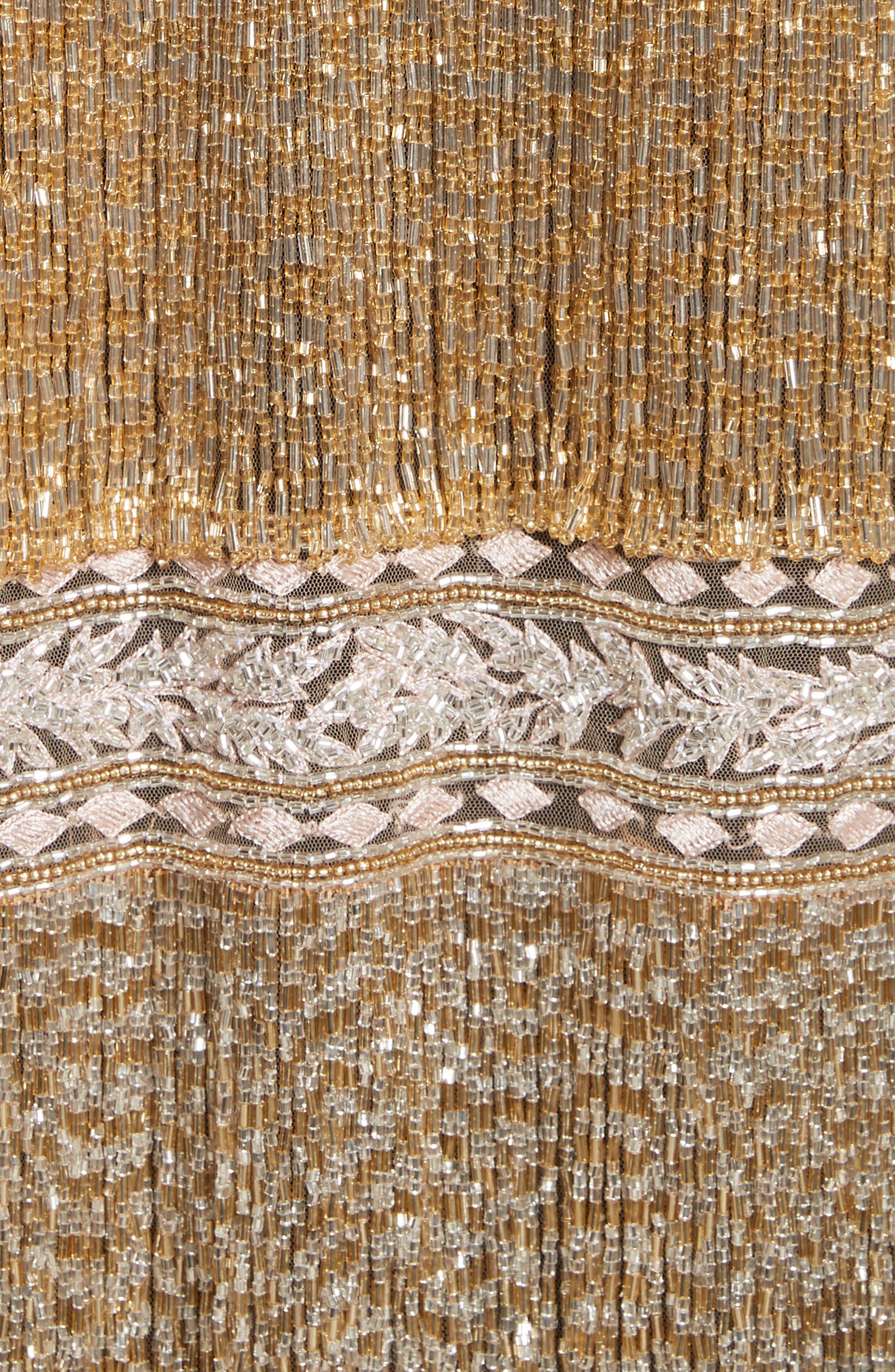 Sequin Fringe Jacket,                             Alternate thumbnail 6, color,                             Gold