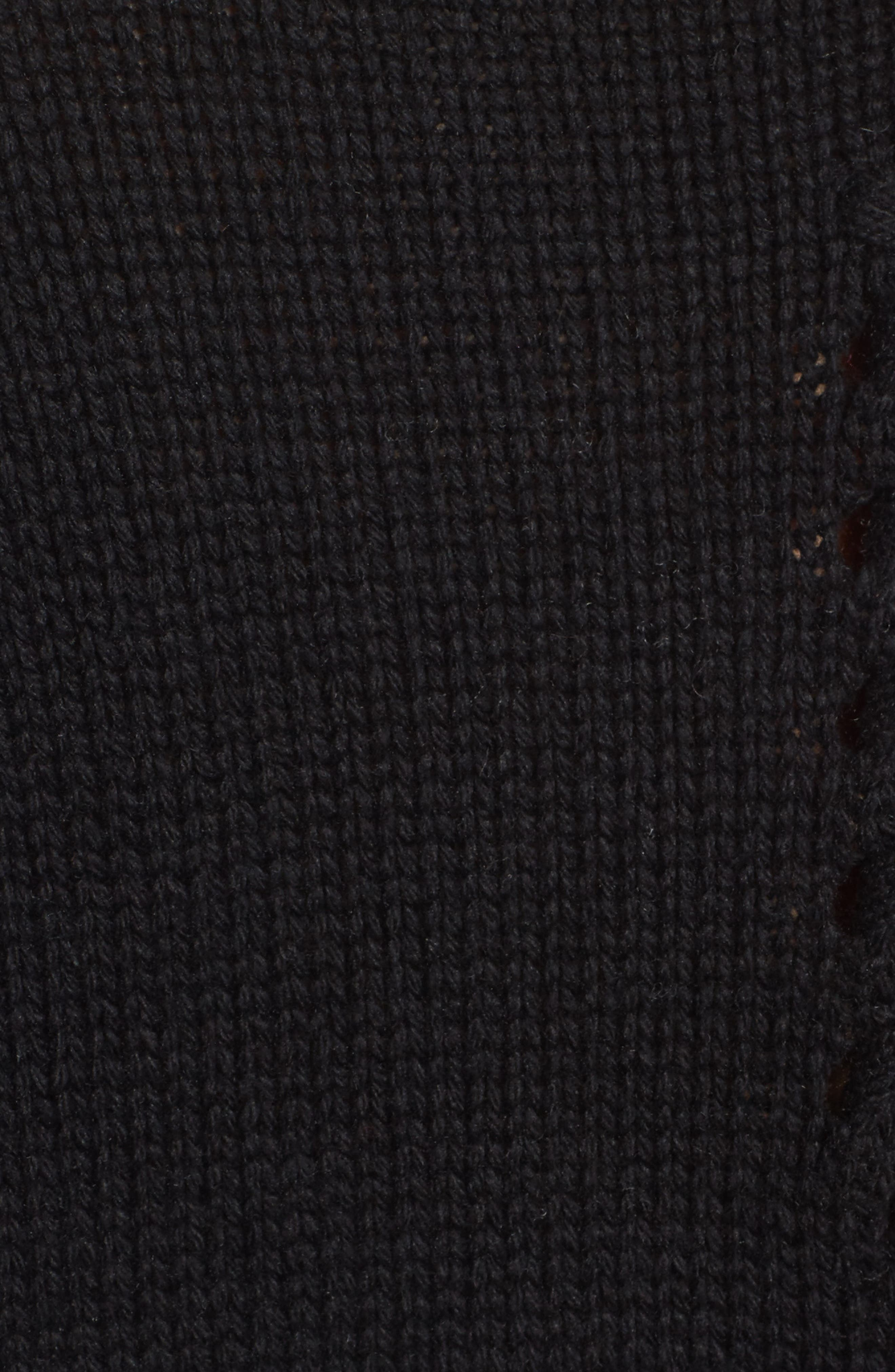 Whipstitch Detail Sweater,                             Alternate thumbnail 5, color,                             Black