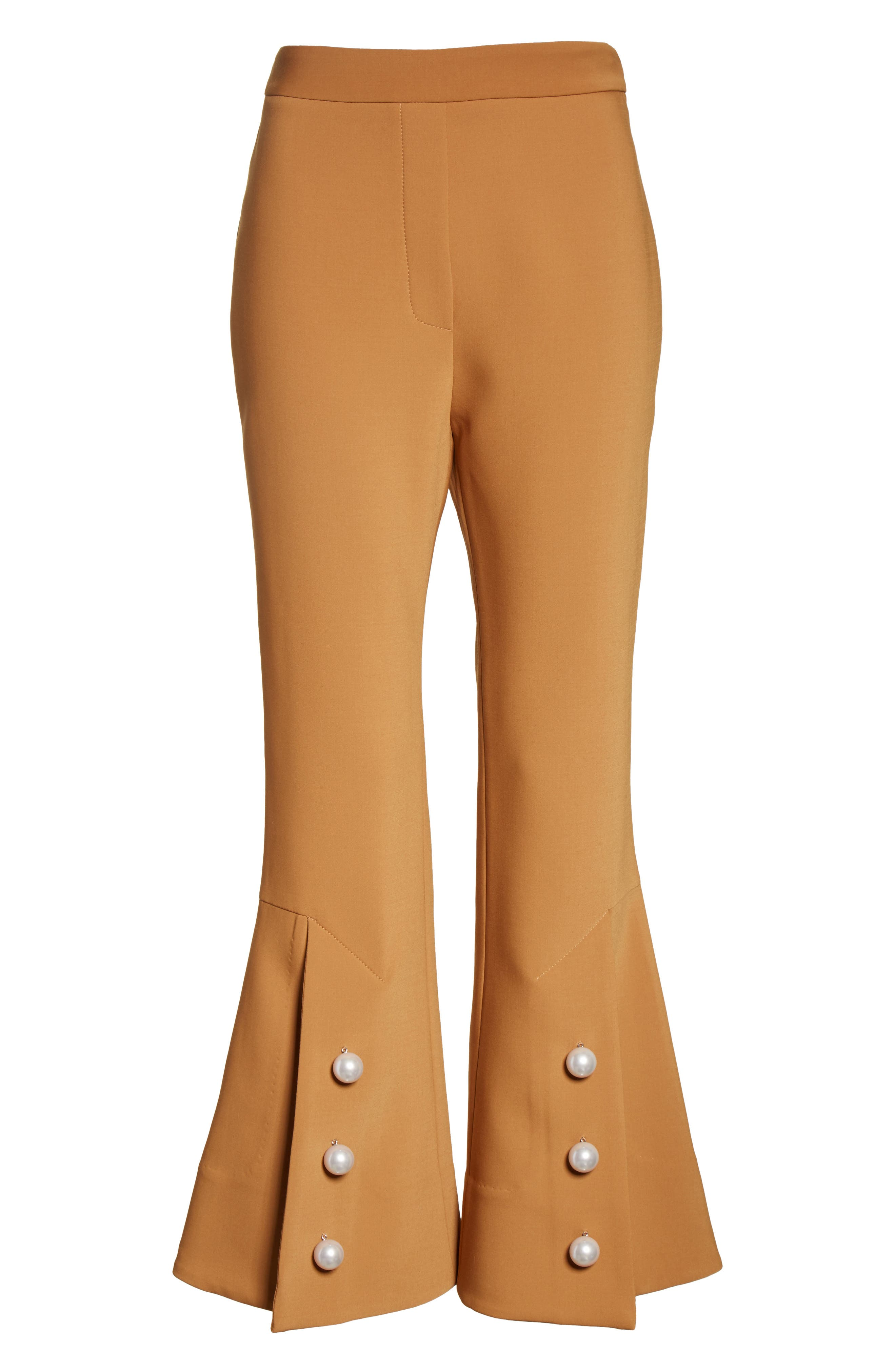 Fourth Element Crop Flare Pants,                             Alternate thumbnail 6, color,                             Camel
