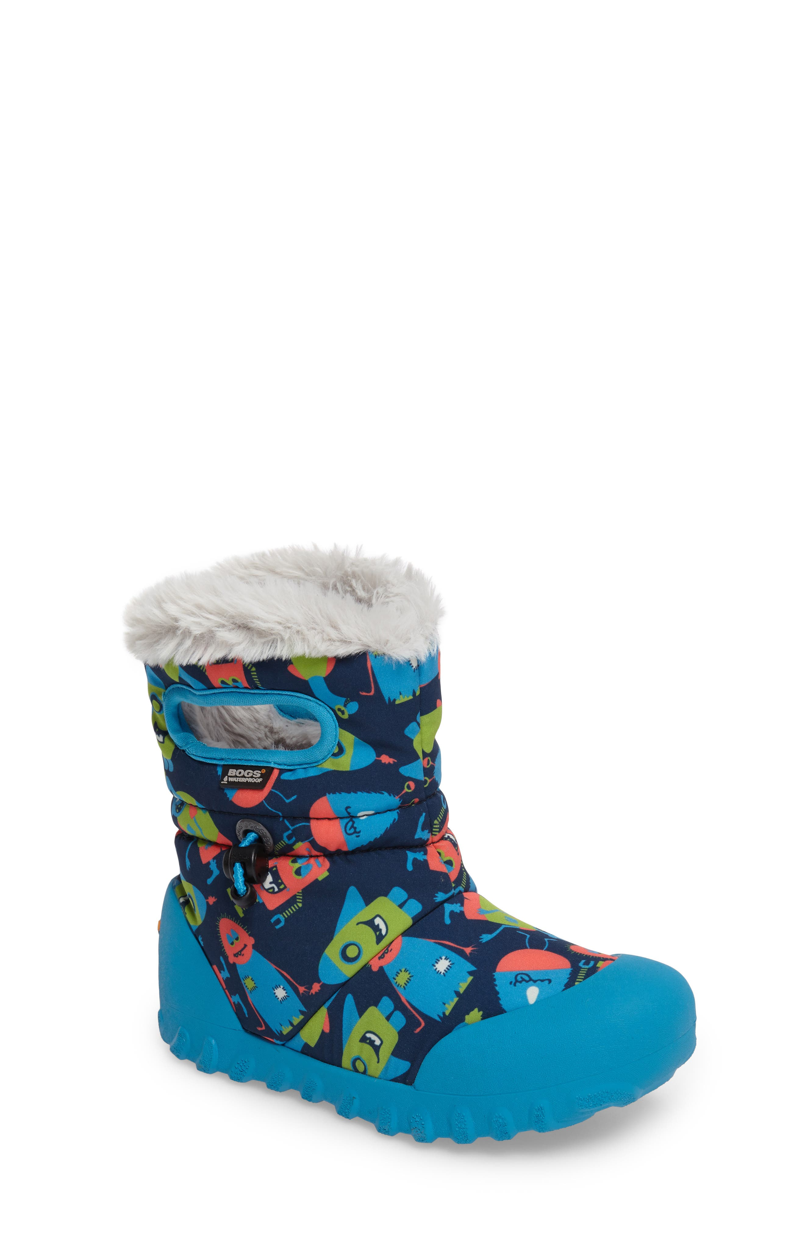 Bogs B-MOC Monsters Waterproof Insulated Faux Fur Boot (Toddler & Little Kid)