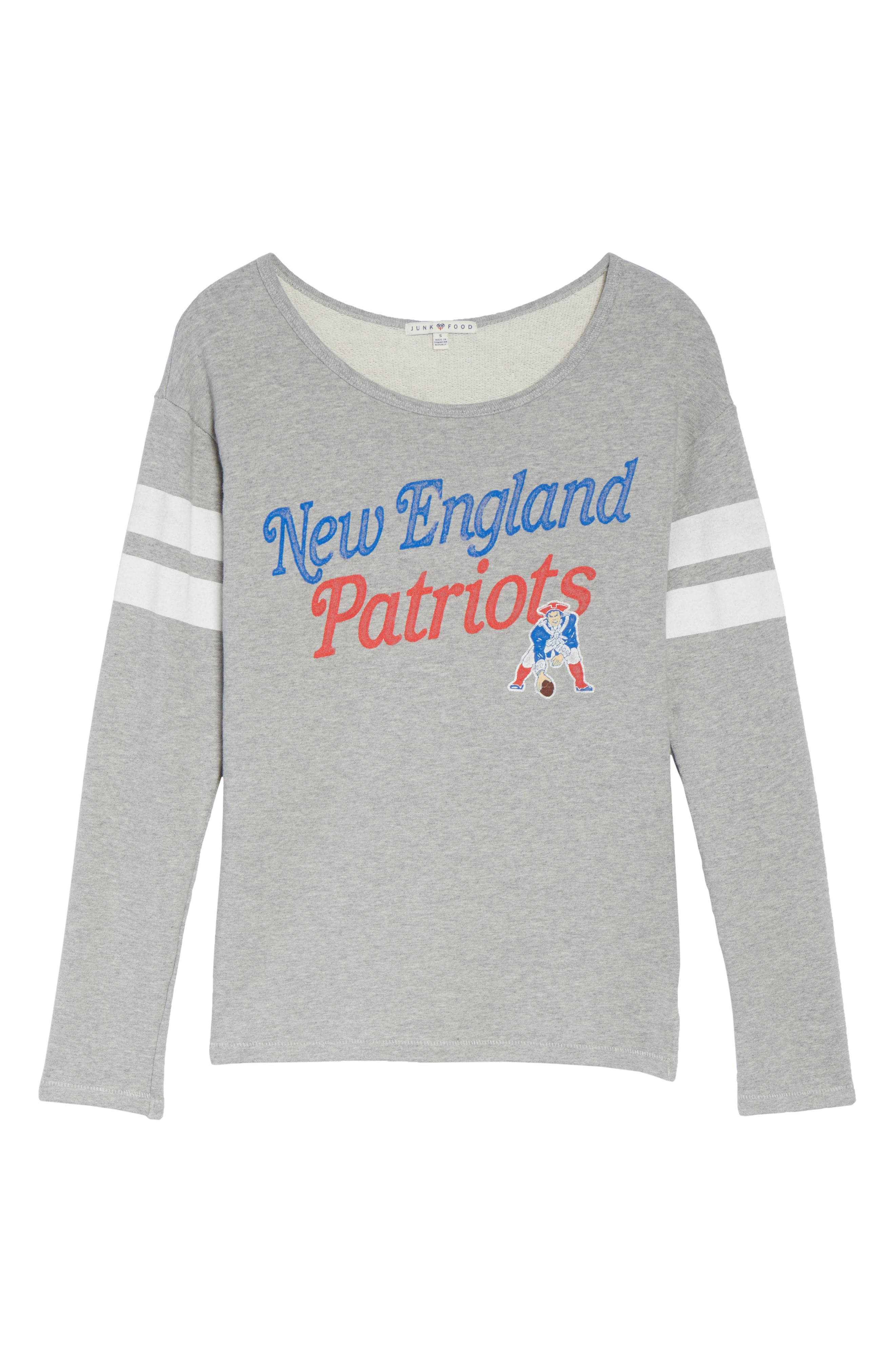 NFL New England Patriots Champion Sweatshirt,                             Alternate thumbnail 4, color,                             Heather Grey