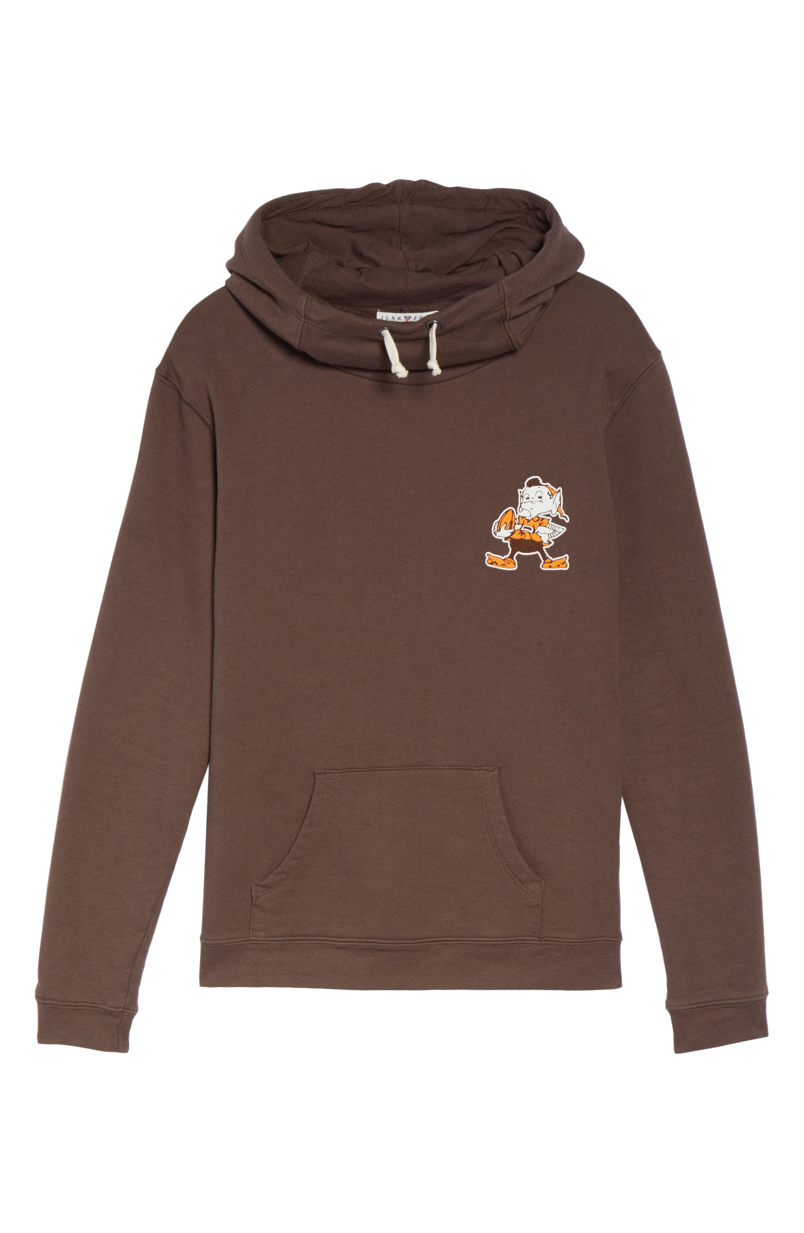 NFL Cleveland Browns Sunday Hoodie,                             Alternate thumbnail 4, color,                             Dark Chocolate