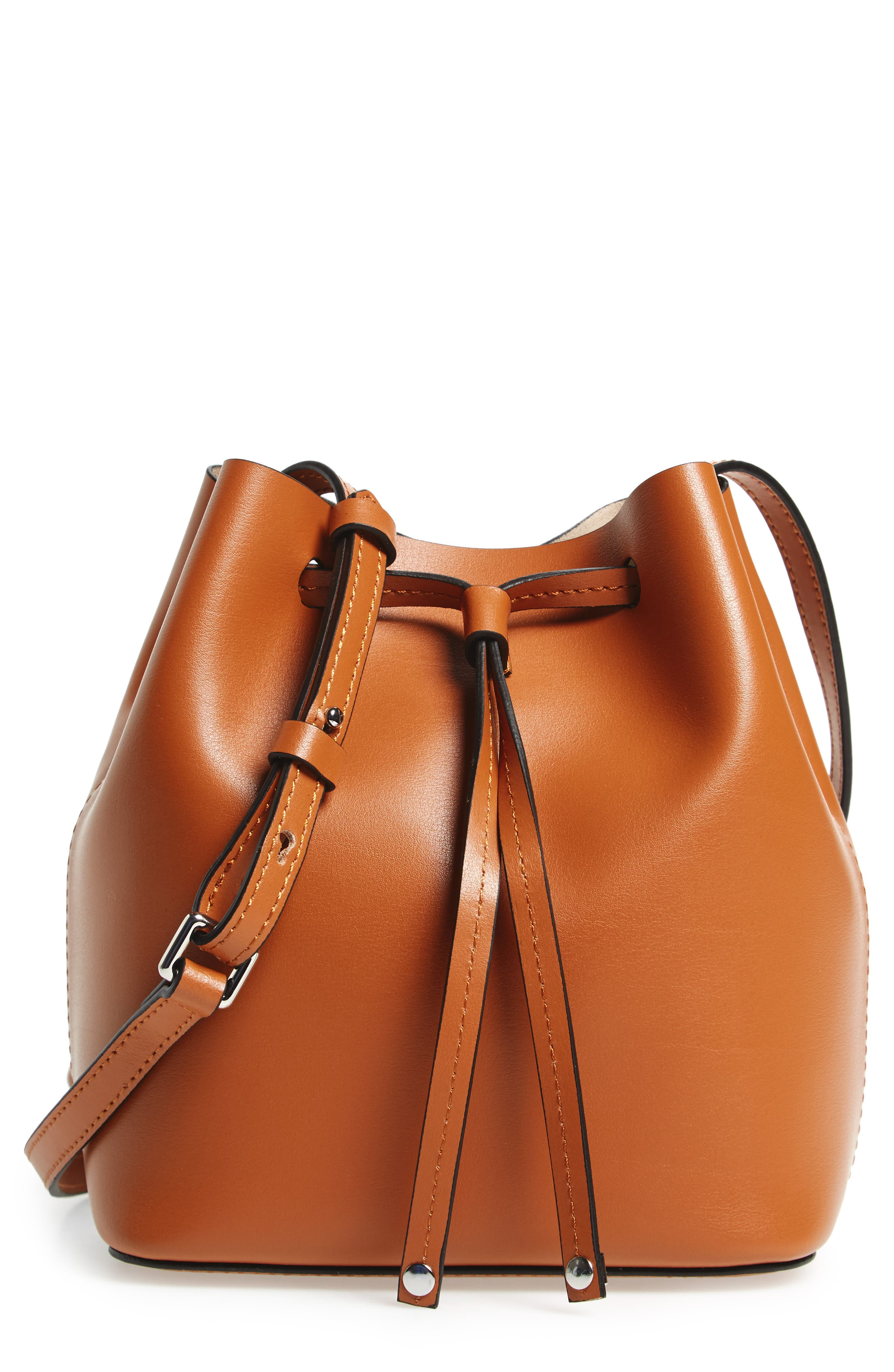 Alternate Image 1 Selected - Lodis Small Silicon Valley Blake RFID Leather Bucket Bag