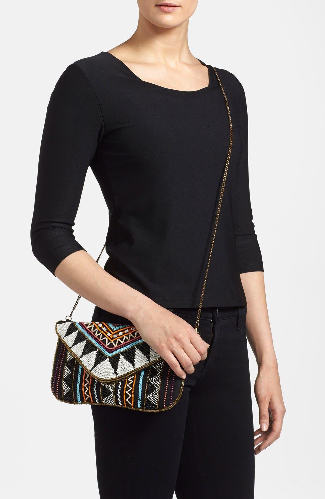 Alternate Image 2  - Street Level Beaded Crossbody Bag