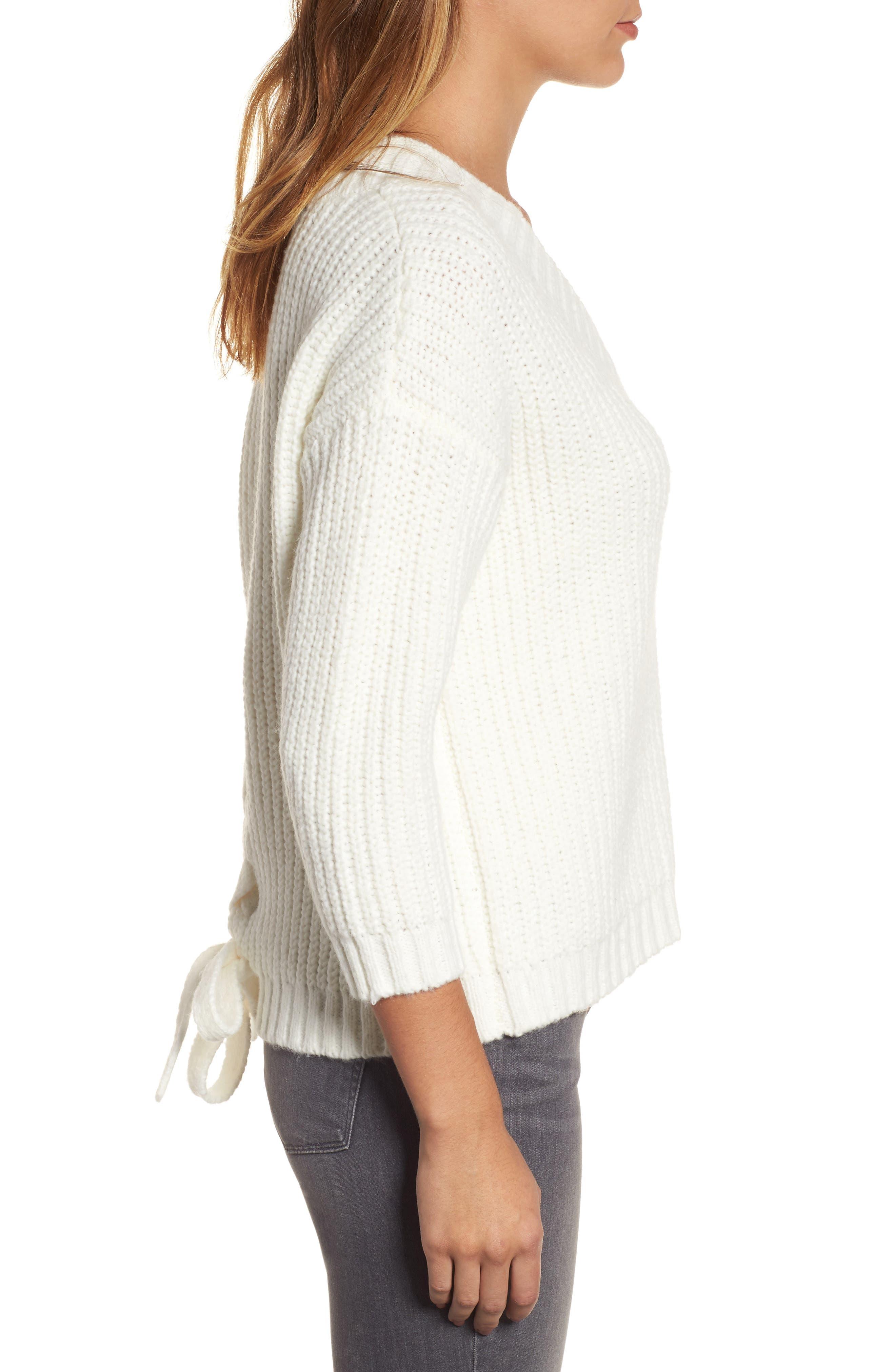 Alternate Image 3  - Press Lace Up Back V-Neck Sweater