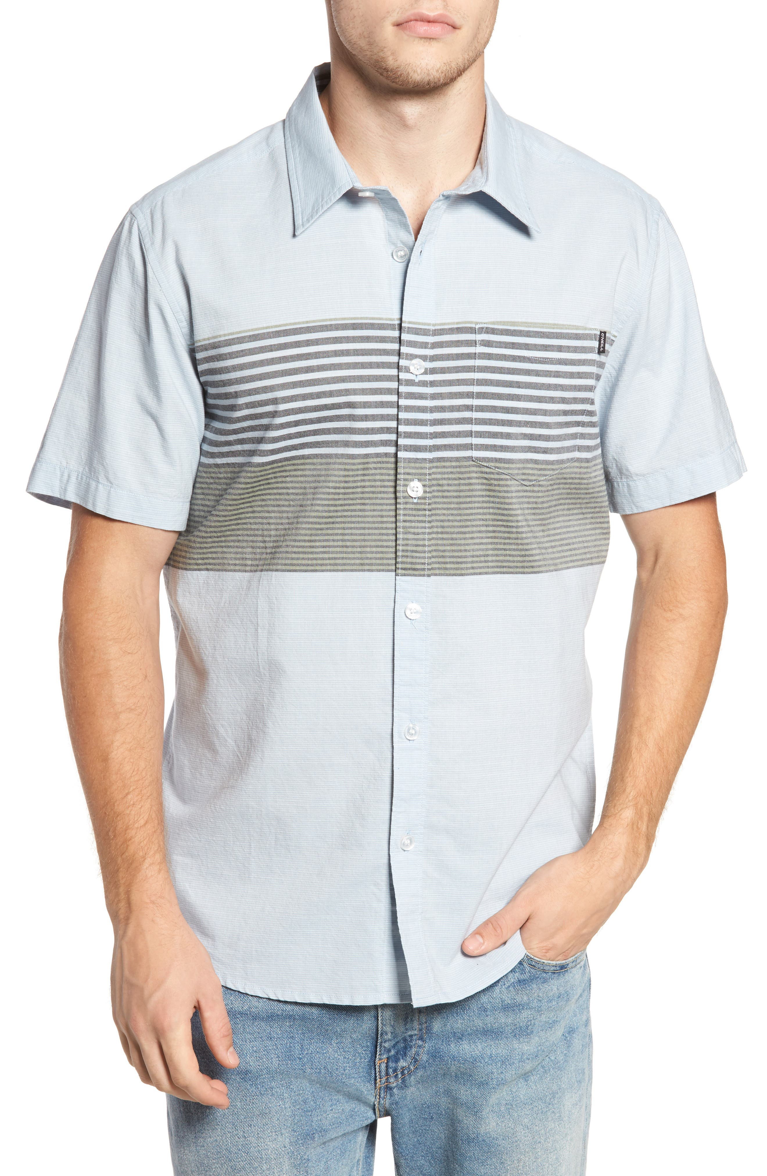 Altair Stripe Sport Shirt,                         Main,                         color, Light Blue
