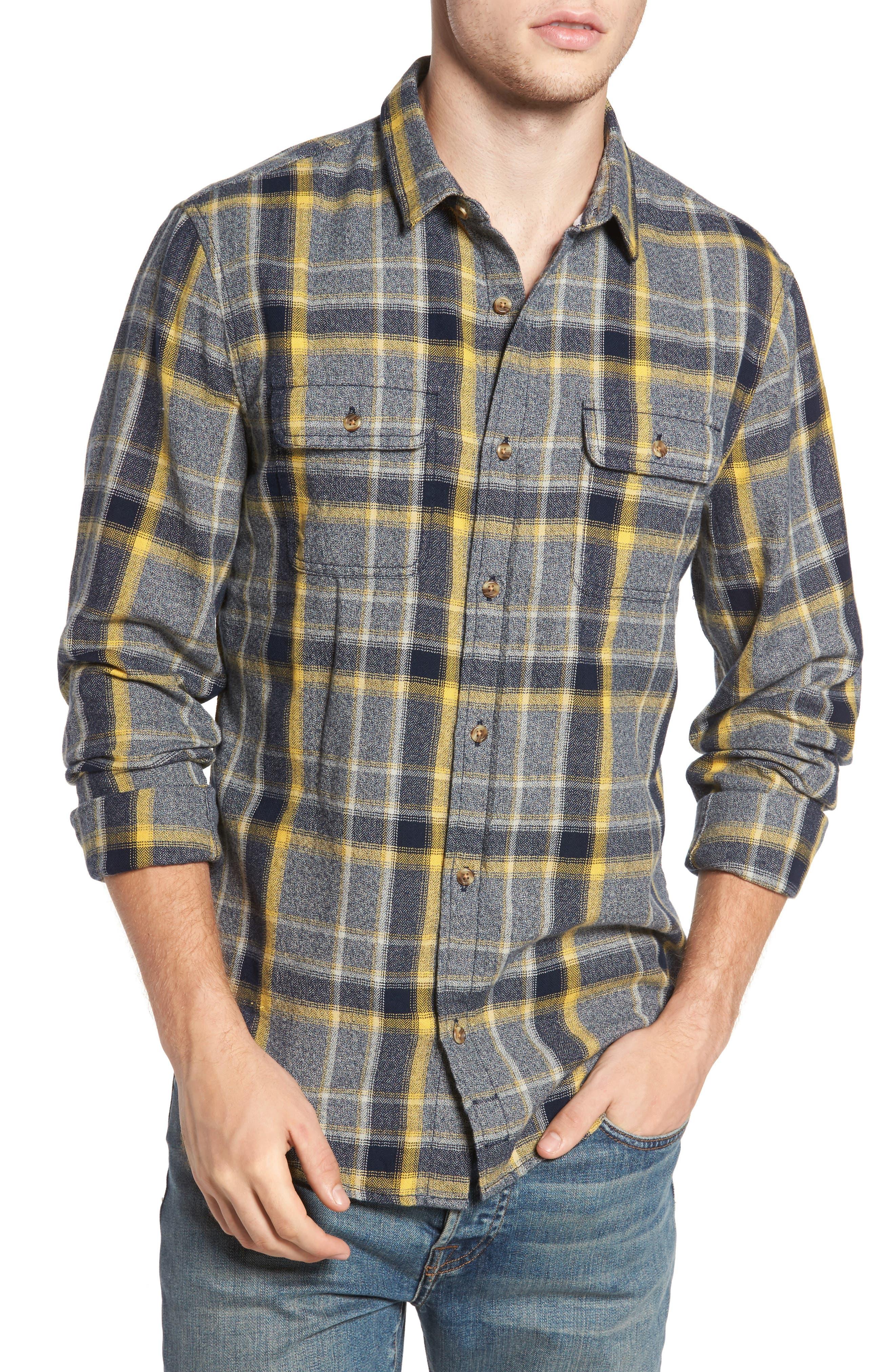 1901 Herringbone Plaid Flannel Shirt