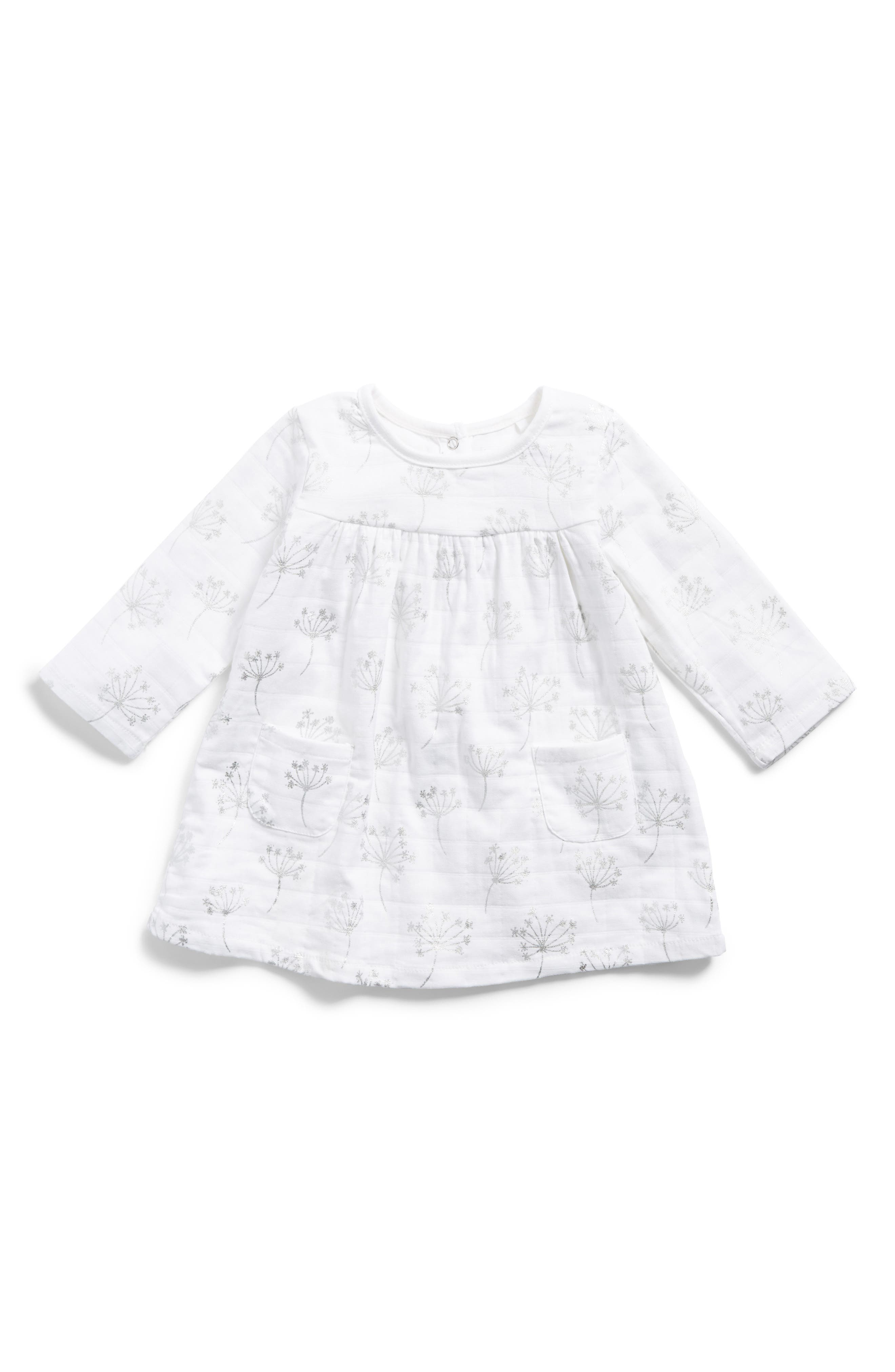 Main Image - aden + anais Pocket Dress (Baby Girls)